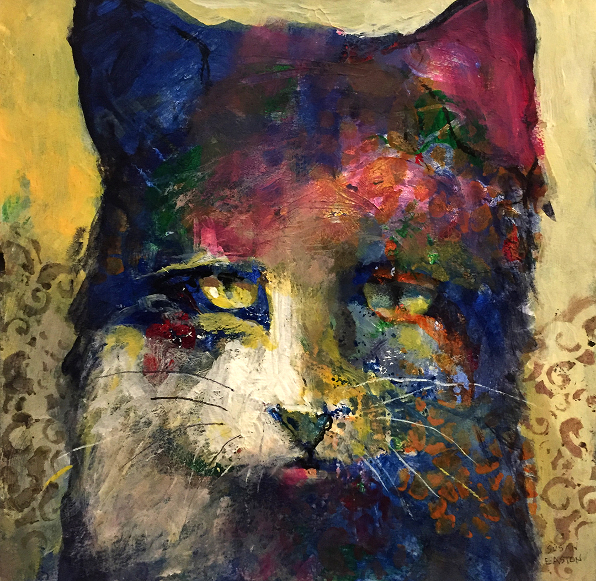 Blue Kitty II by Susan Easton Burns