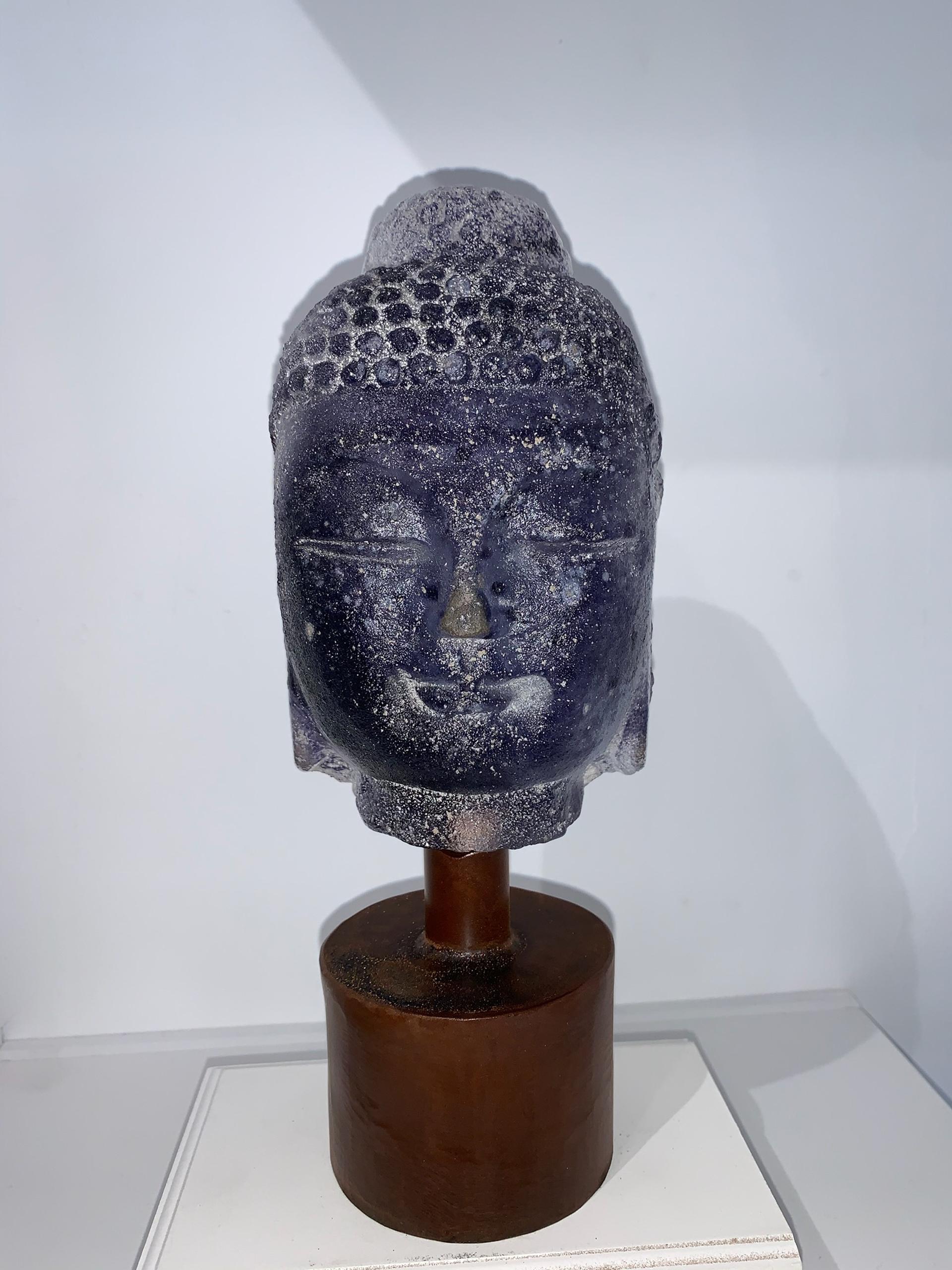 Mini Buddha - Purple by Marlene Rose (b. 1967)