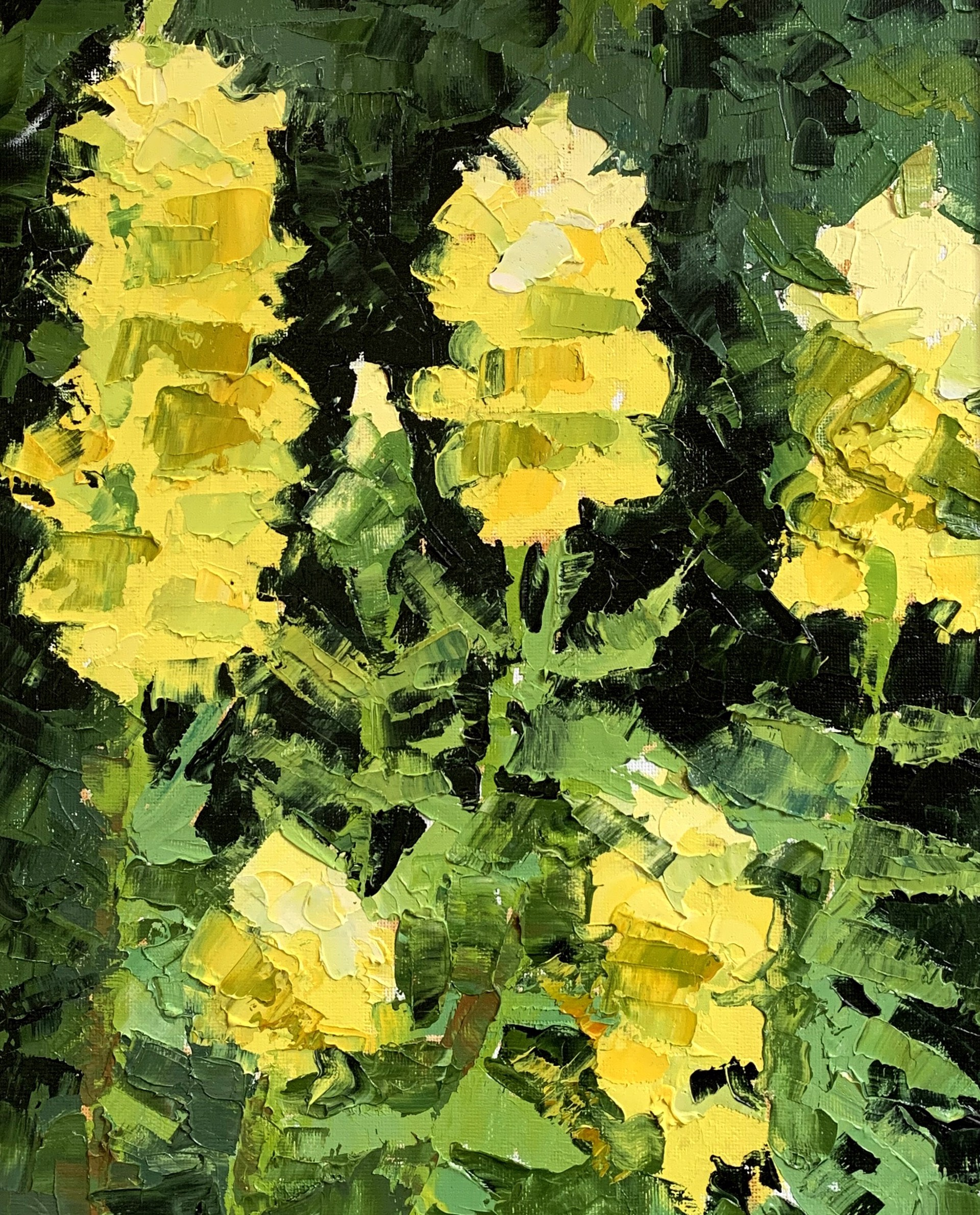 Yellow Snapdragons by Laura Murphey