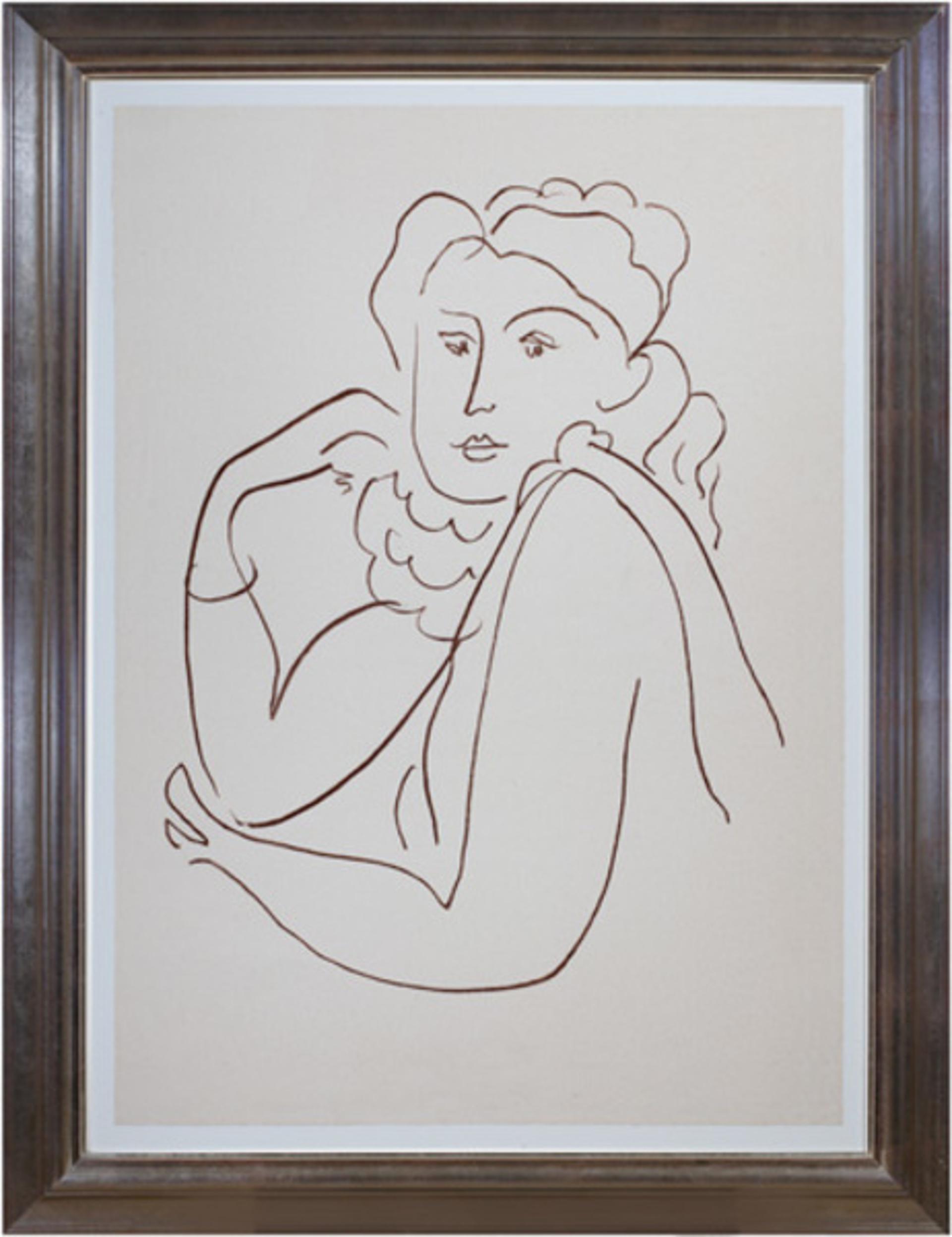 Woman w/Ruffled Collar (from Florilege des Amours de Ronsard Portfolio) by Henri Matisse