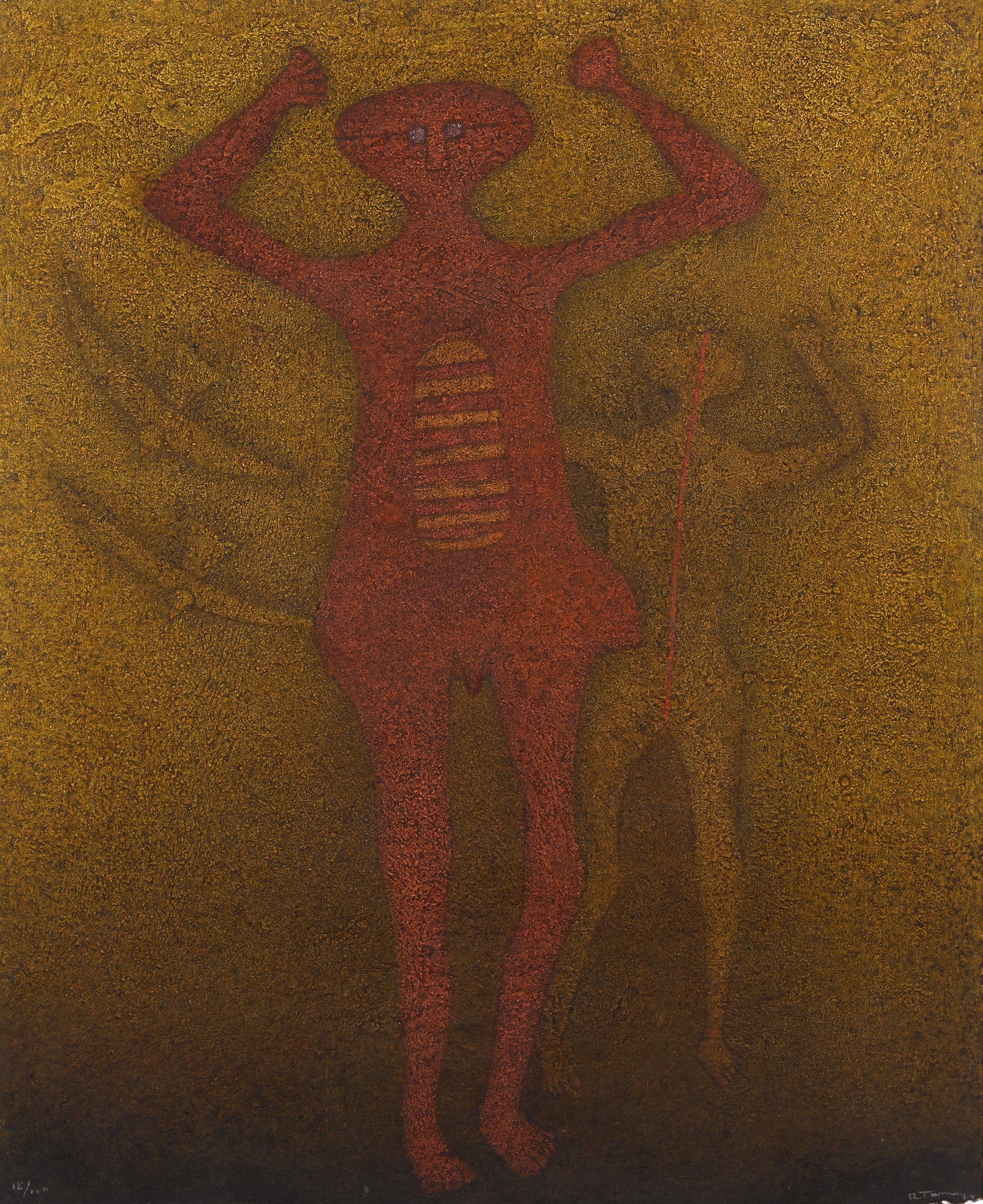 Personajes con Pájaros (Framed) by Rufino Tamayo (1899 - 1991)