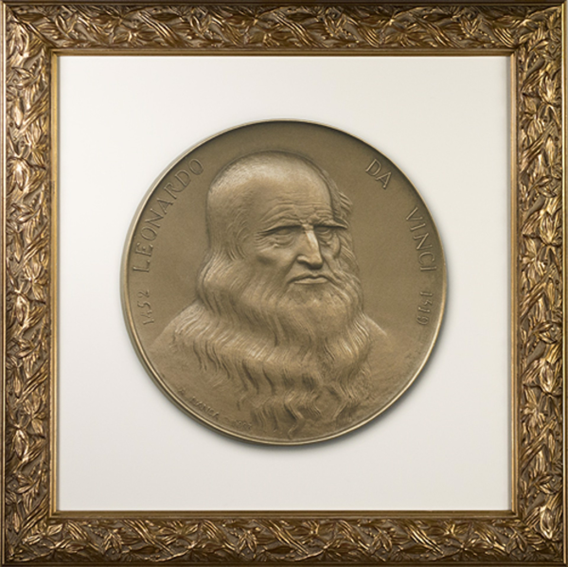"""Leonard da Vinci """"Masterpieces in Medals"""" Series (To be sold as pair with 13634g-Mona Lisa) by Albino Manca"""
