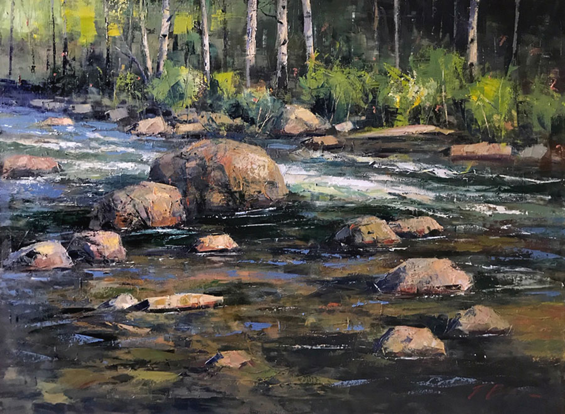 Summer Creek by Perry Brown