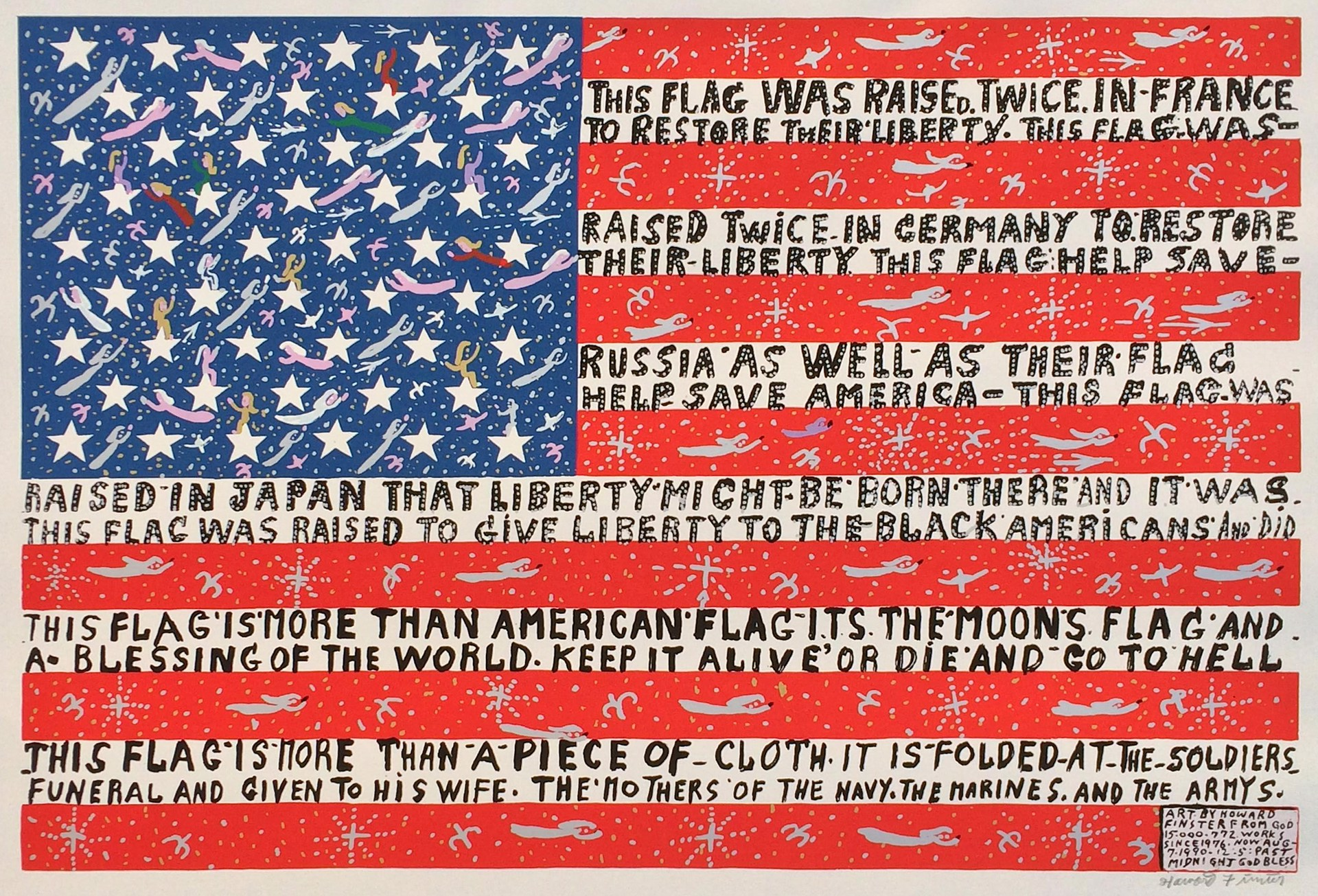 More Than a Piece of Cloth Flag by Howard Finster