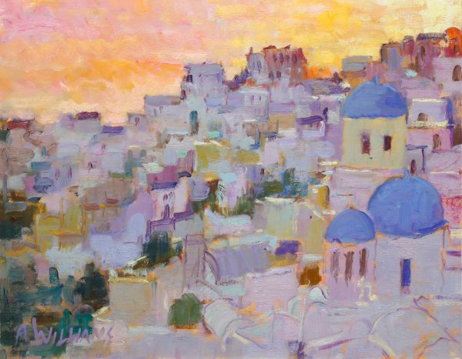 Santorini Sunset by Alice Williams