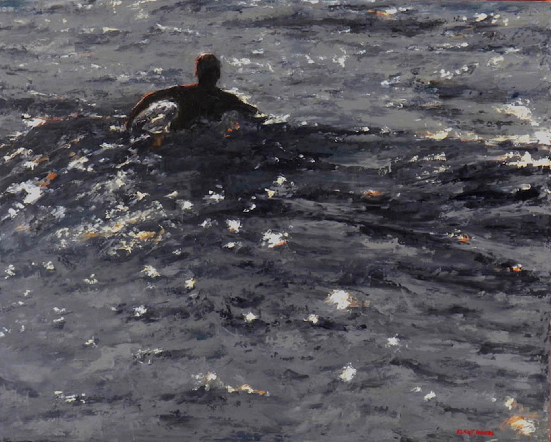 Twilight Surfing by Elaine Hughes