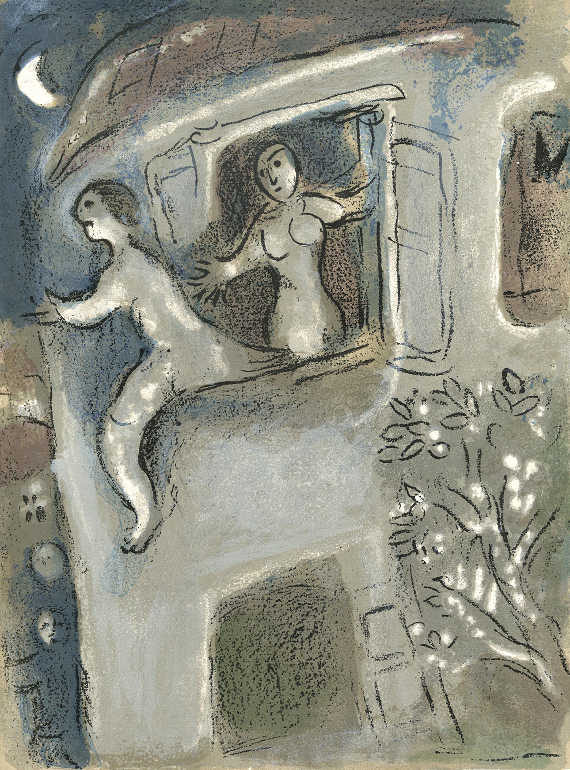 David sauvé par Michal (David Save by Michal), M 250/273 by Marc Chagall