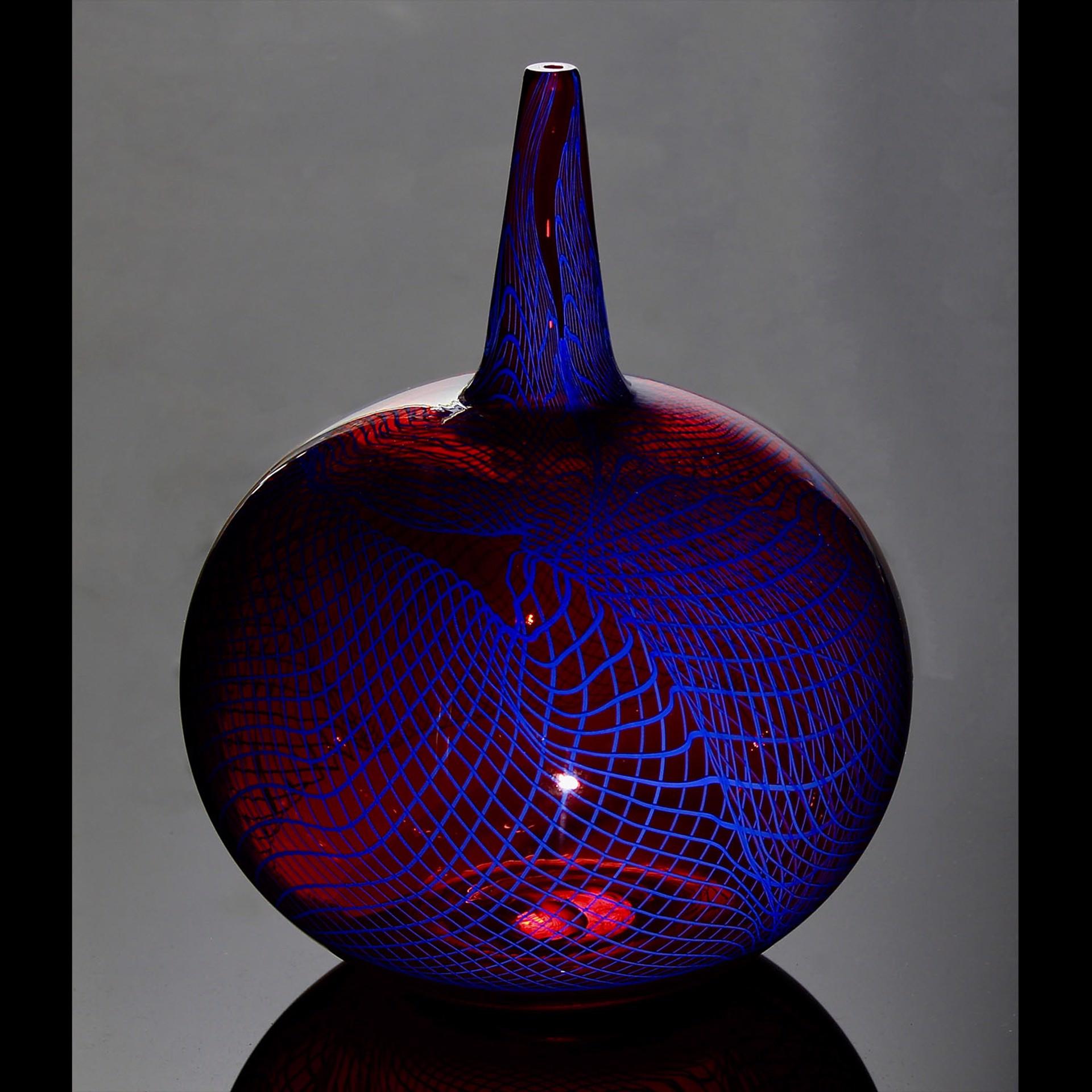 Blue & Red Vortex Bottle by James Friedberg
