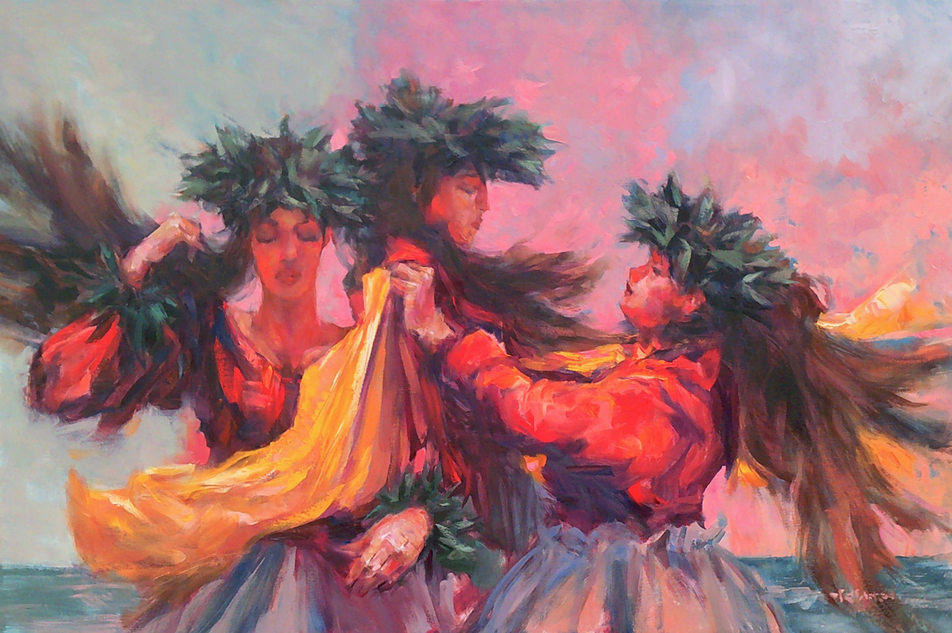 Three Dancers by Rod Cameron