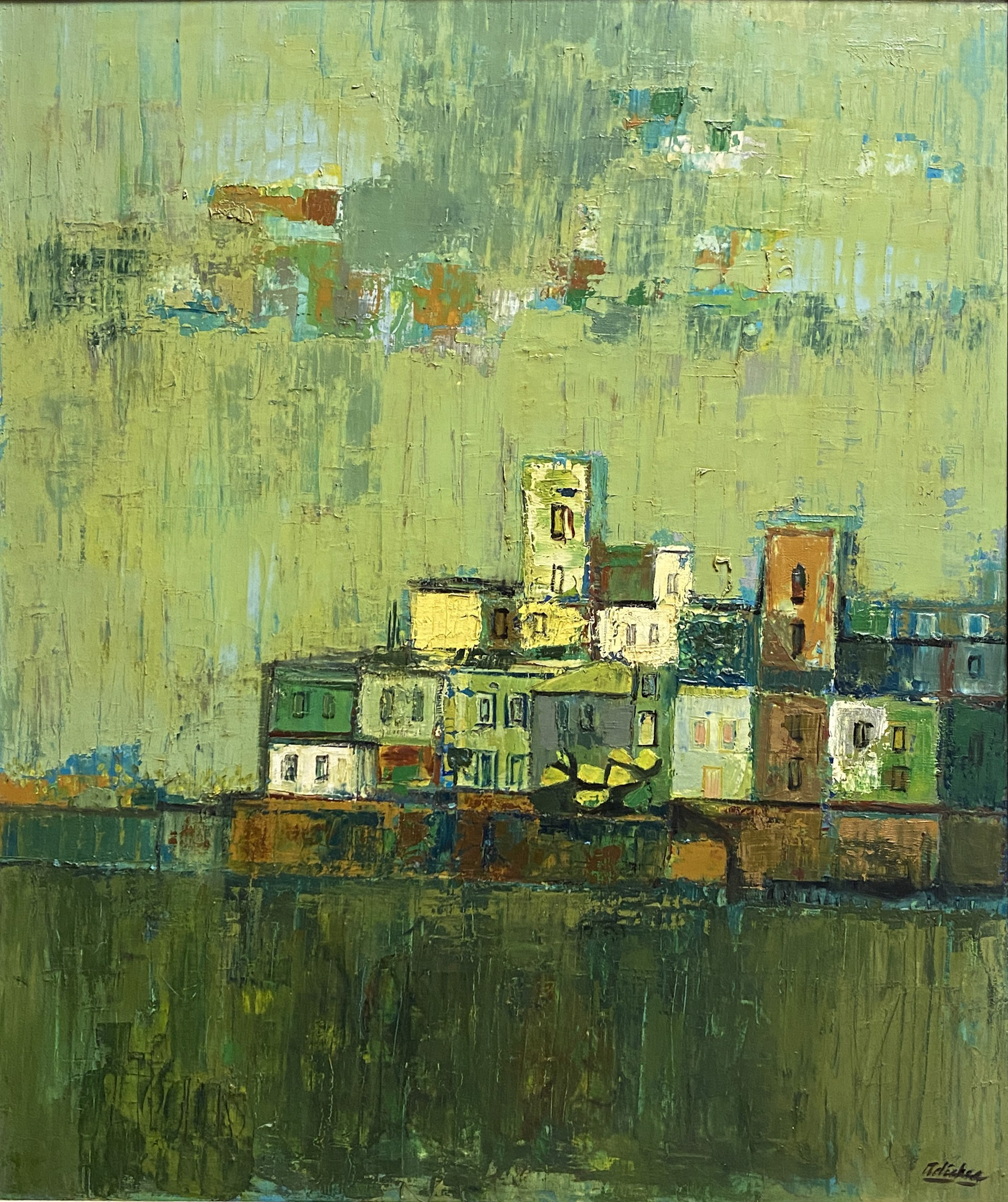 Untitled, Village at Sea by David Adickes