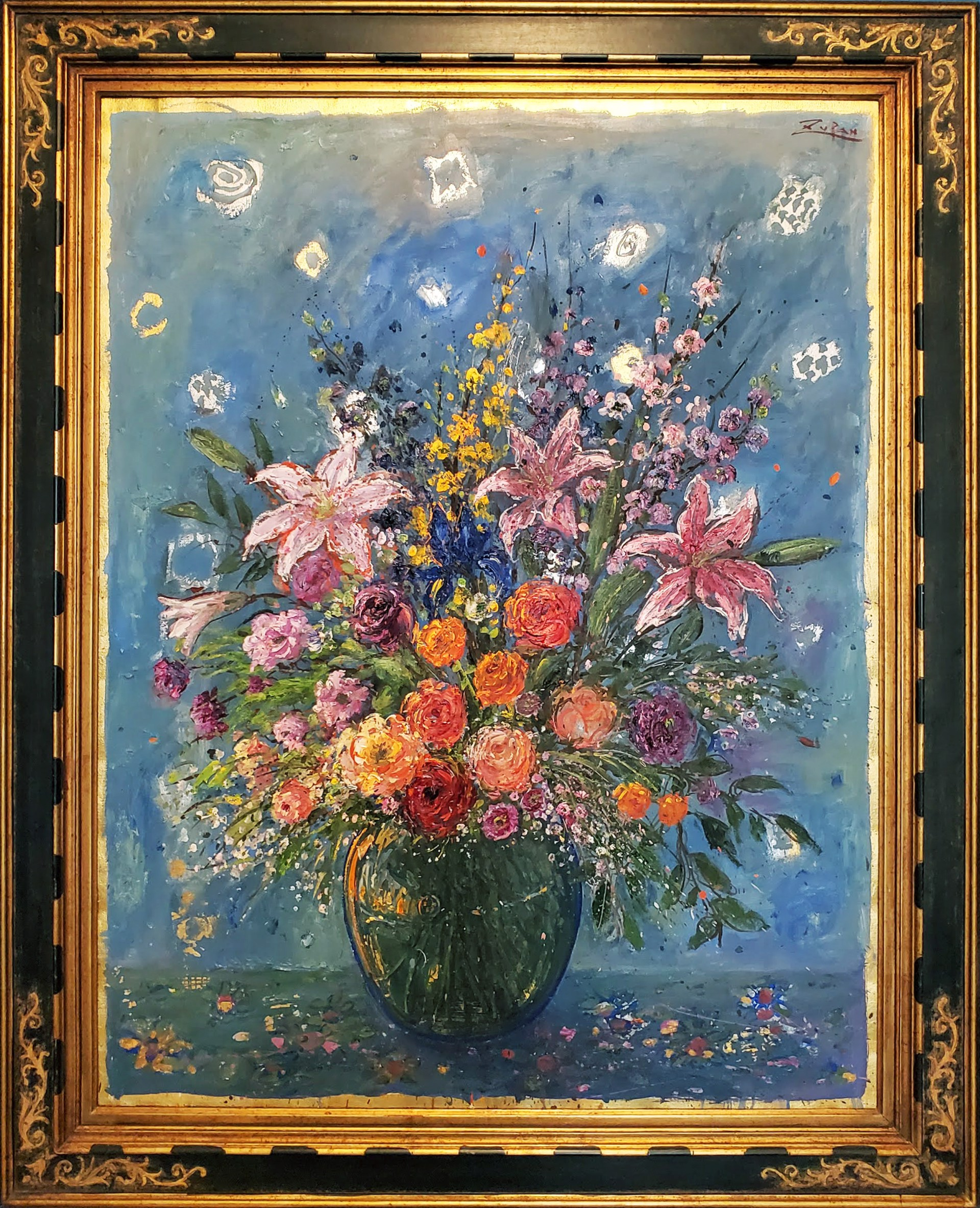 Bouquet in Glass Vase by Bruno Zupan