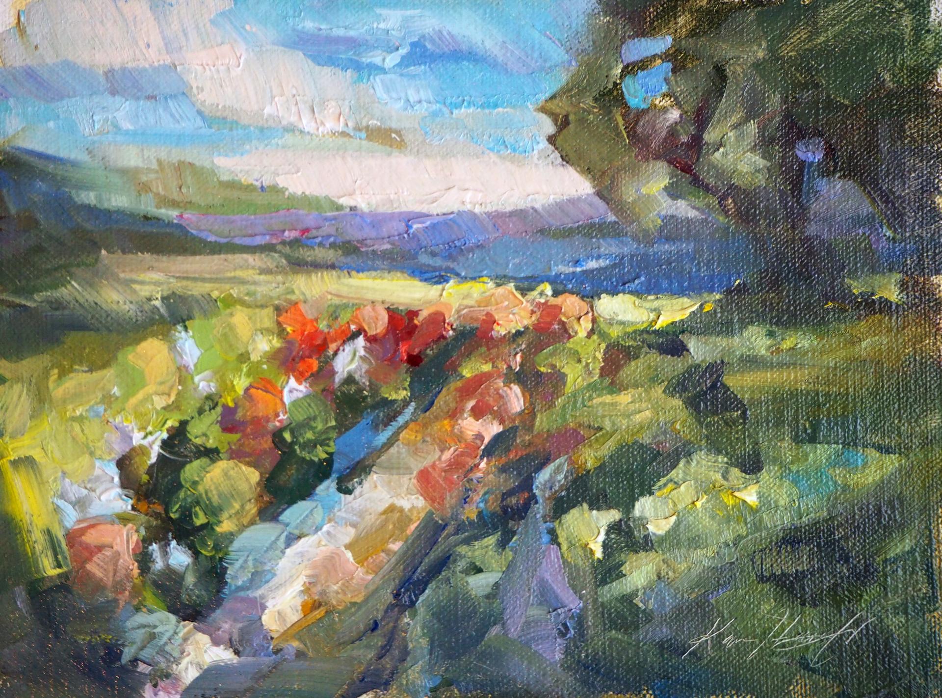 Flower Farms in Spring by Karen Hewitt Hagan
