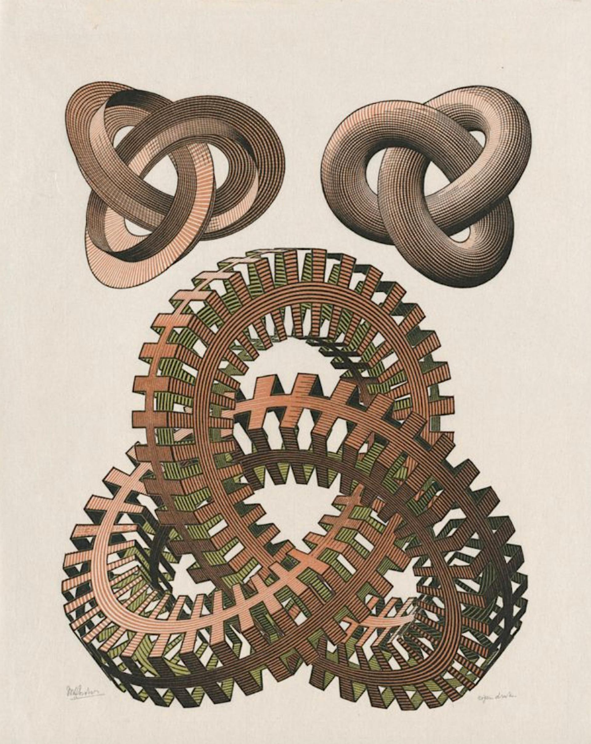 Knots by M.C. Escher