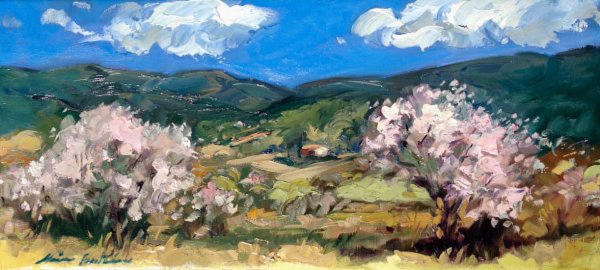 Apricot Trees In Bloom by Maria Bertrán