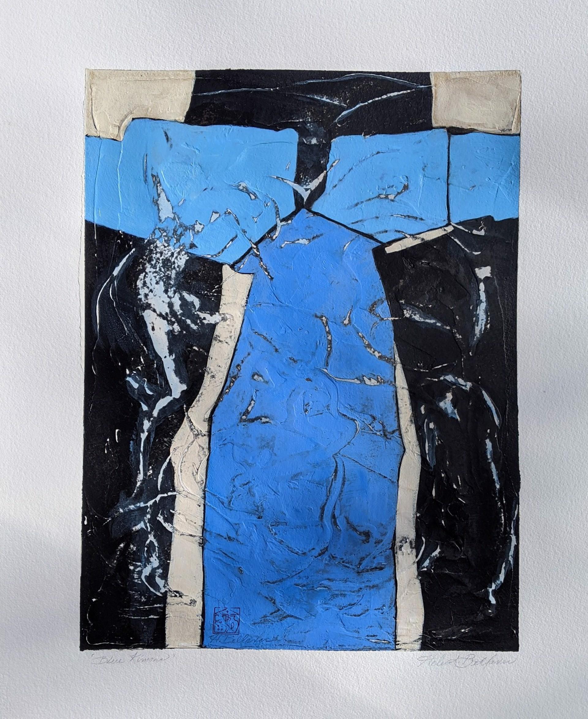 Blue Kimono by Helen Bellaver