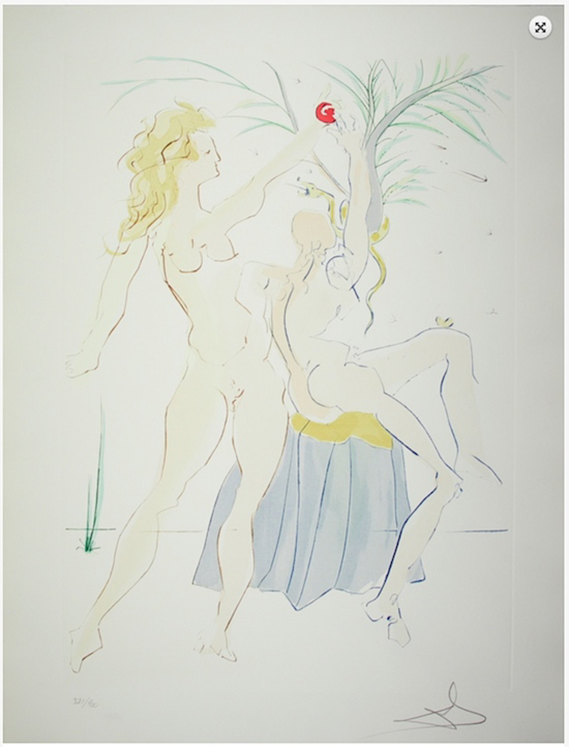 Adam and Eve (from Our Historical Heritage, suite of 11 works) by Salvador Dali