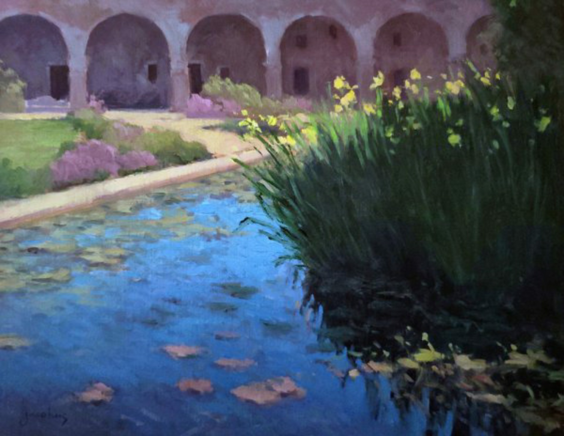 Lily Pond, San Juan Mission by Jacobus Baas
