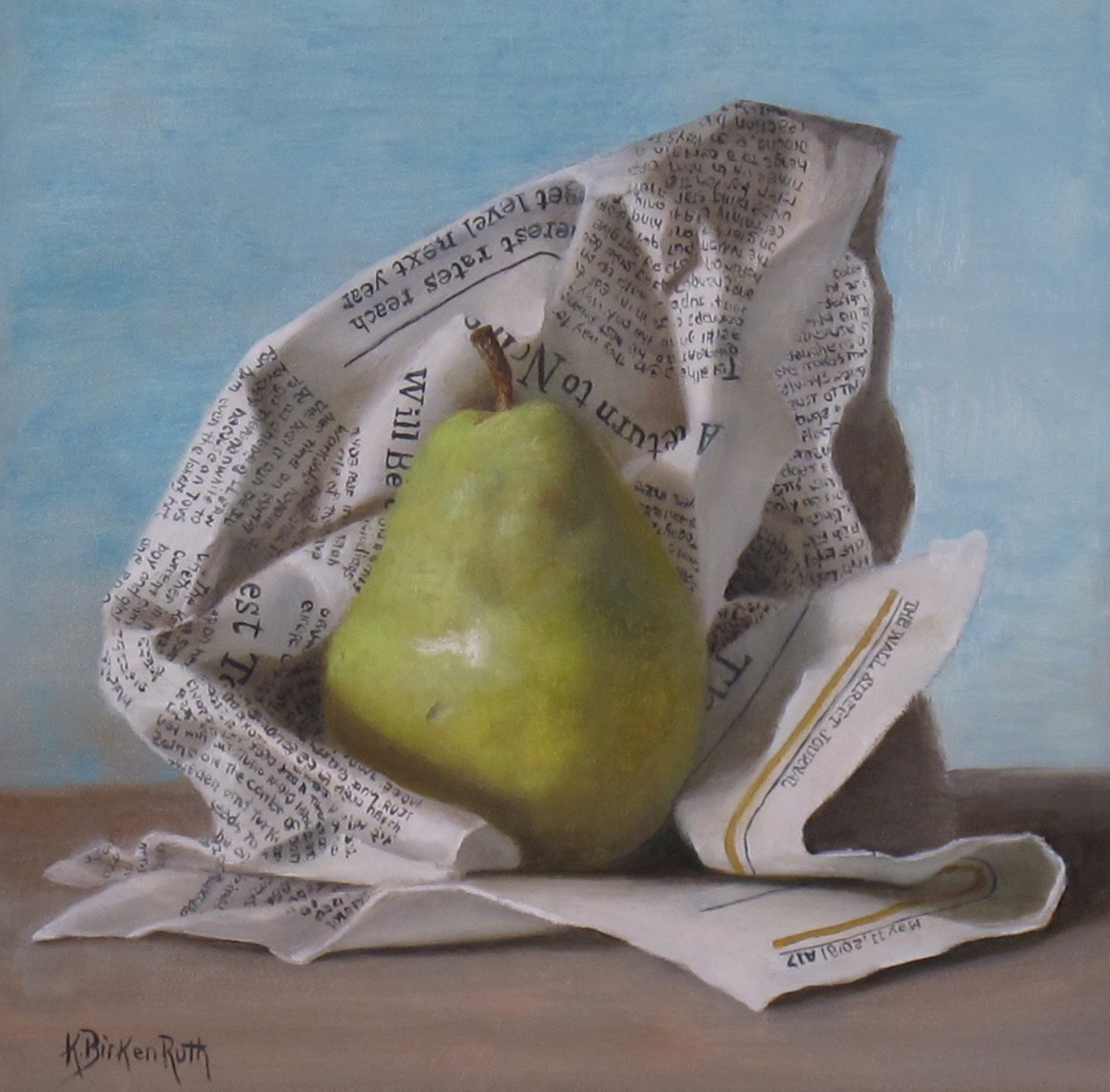 Wrapped Pear by Kelly Birkenruth