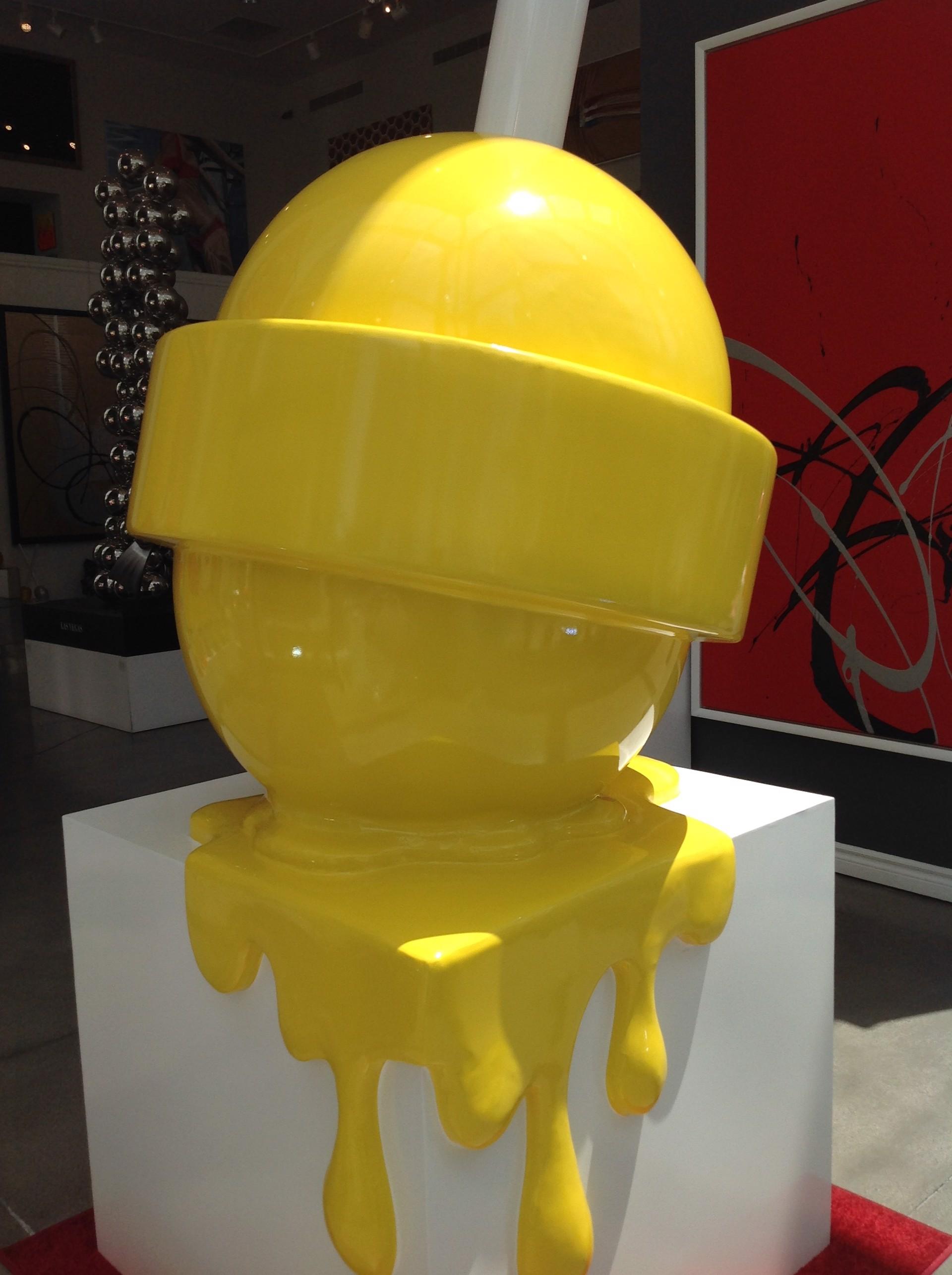 The Sweet Life Lollipop Giant Yellow by Elena Bulatova