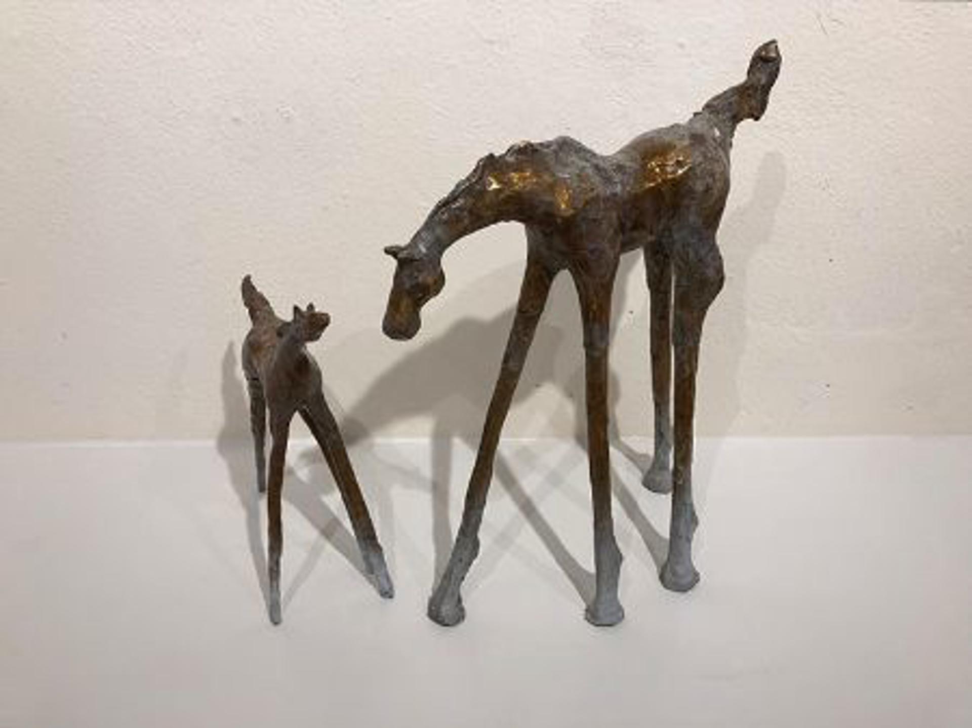 Mare & Foal (2-Peice) by Lorri Acott