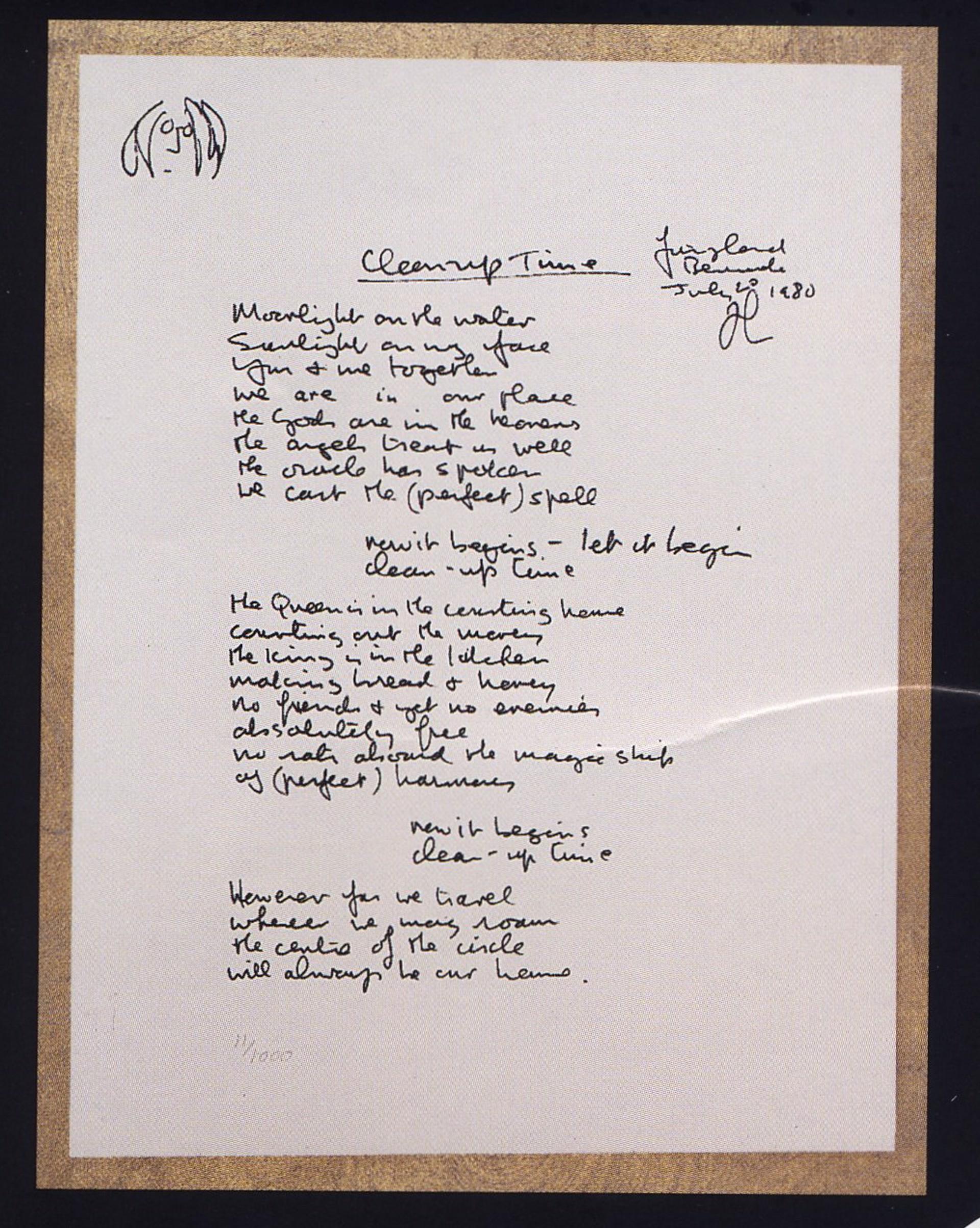 """Clean Up Time"" Lyrics by John Lennon"