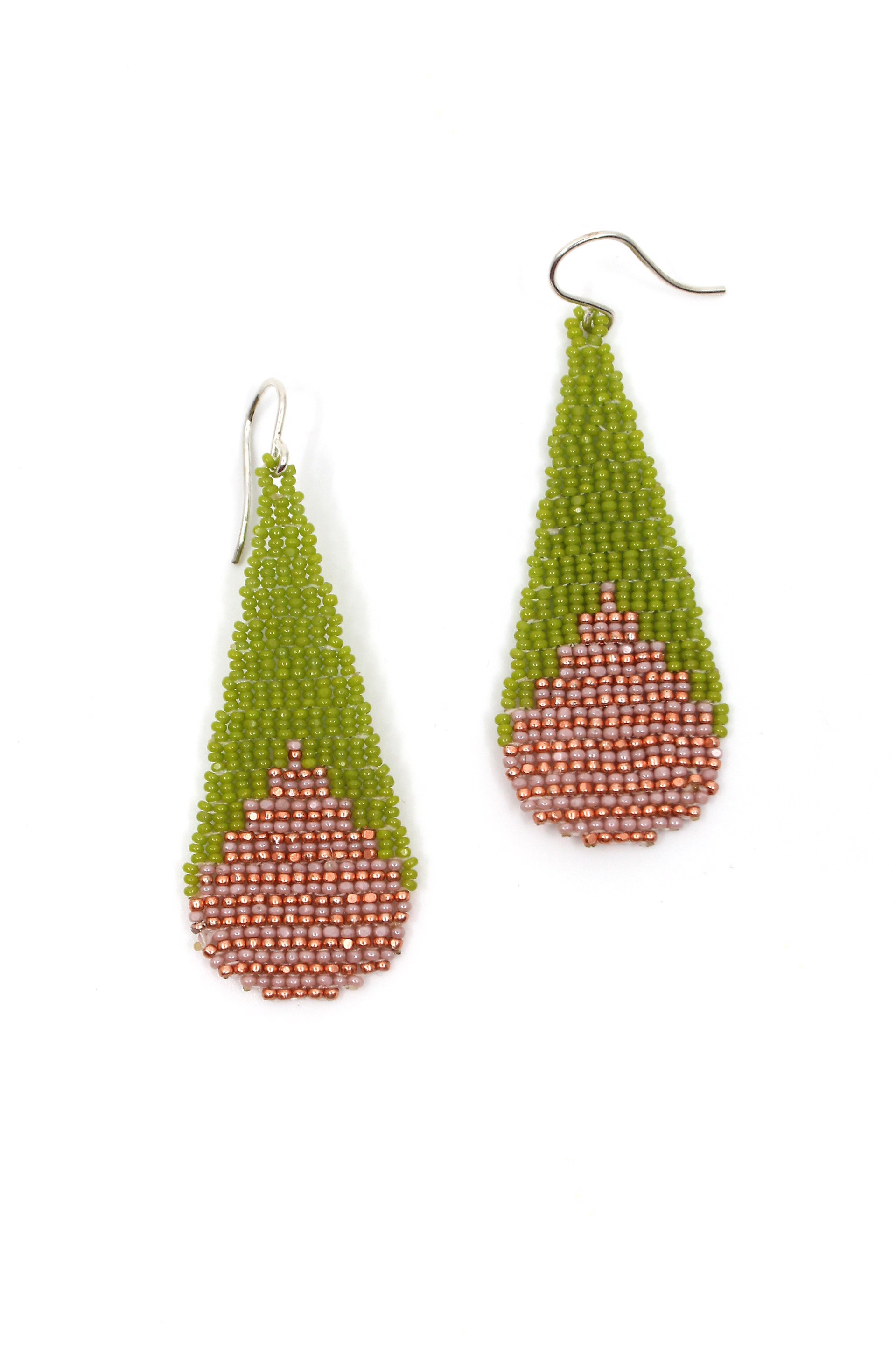Watermelon Stripe Tear Drop Earrings by Mikayla Patton
