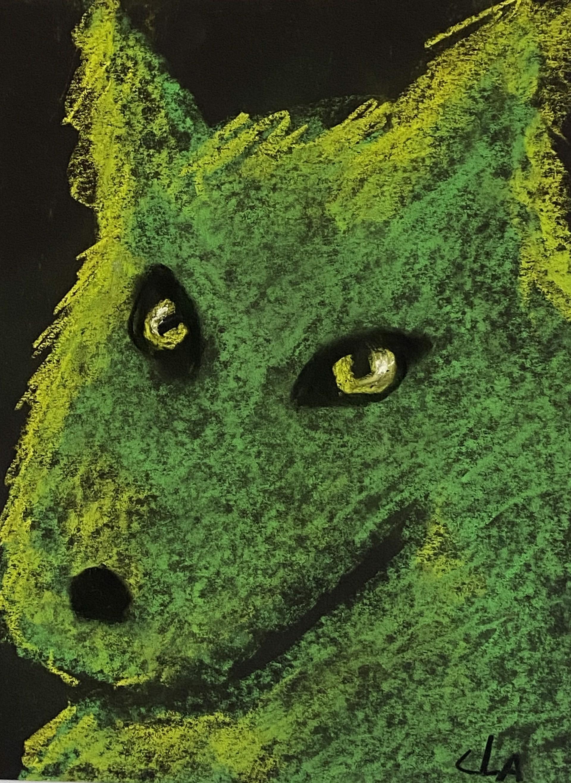 Small Green Wolf by Carole LaRoche
