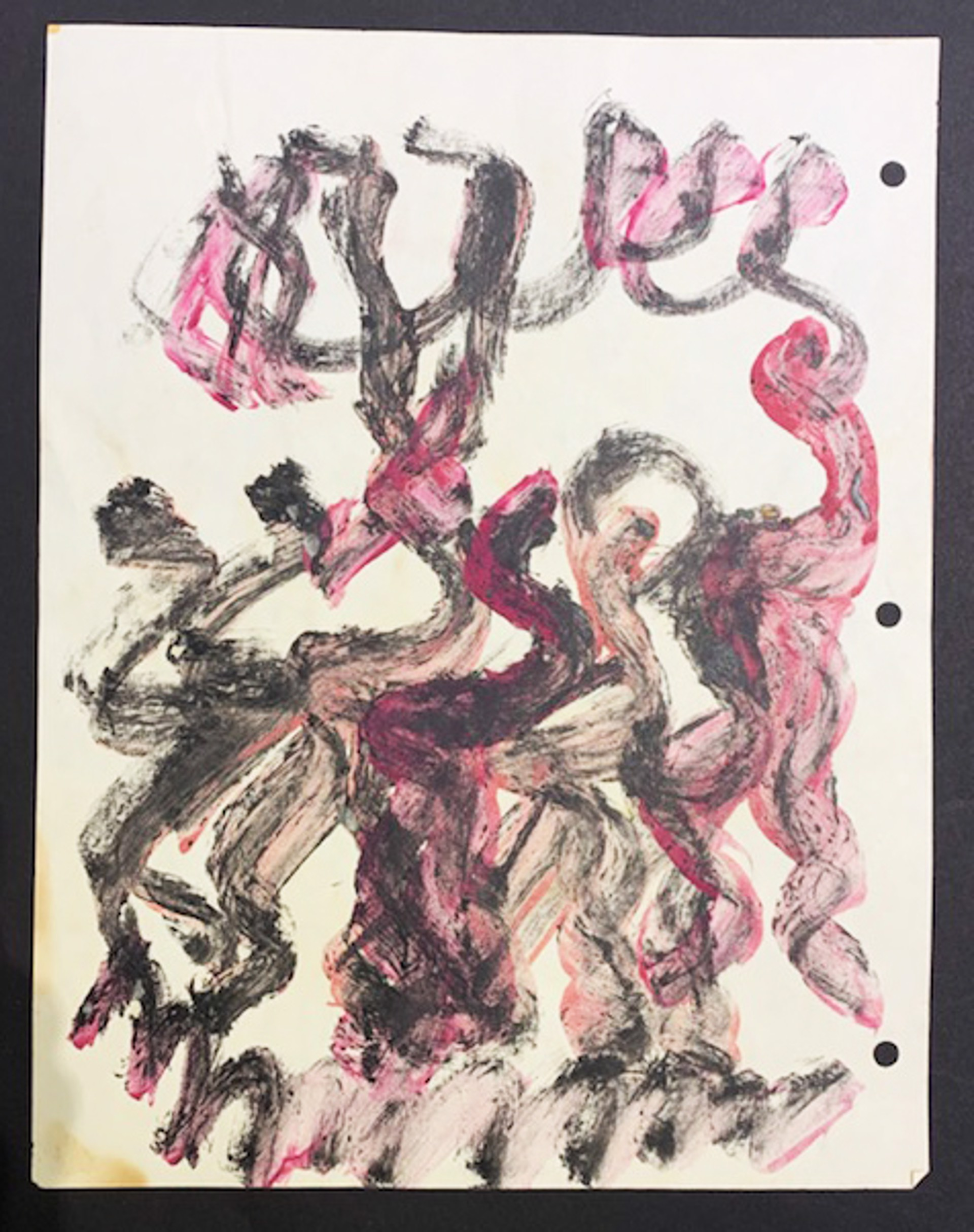 Drawing from the 1990's #26 by Purvis Young (1943 - 2010)