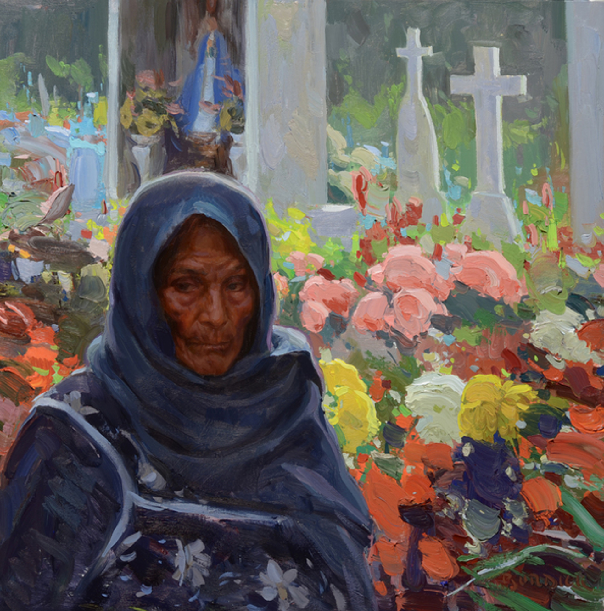Woman from San Miguelle (Day of the Dead) by Scott Burdick