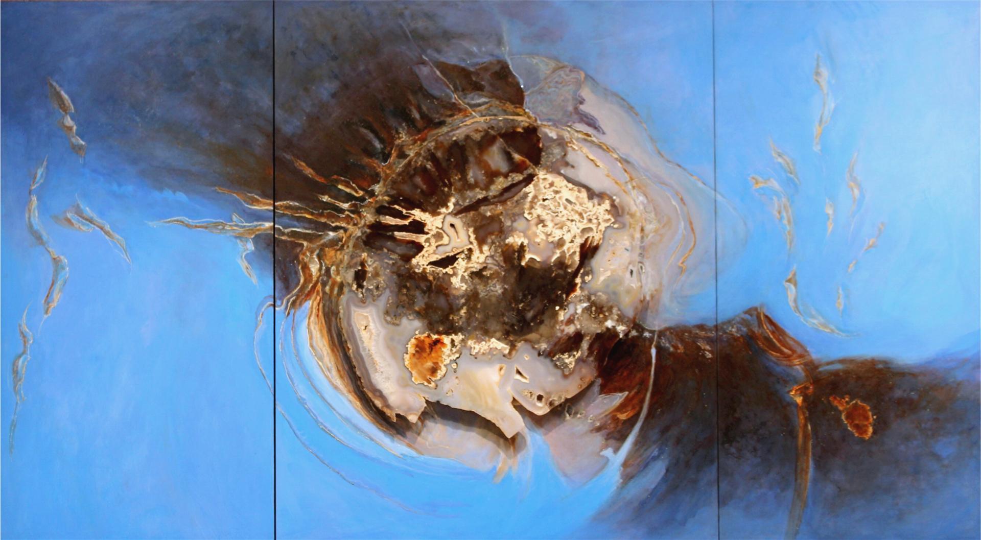 Deep Fathom Triptych by Redhawk Mallet