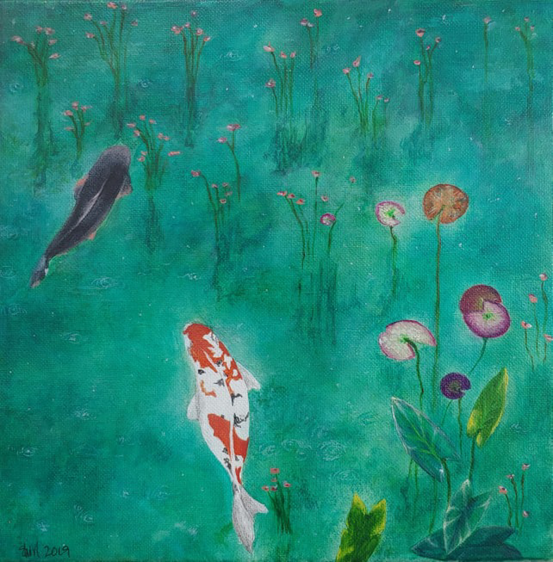 Koi Pond by Shirley Hays (Yamhill, OR)