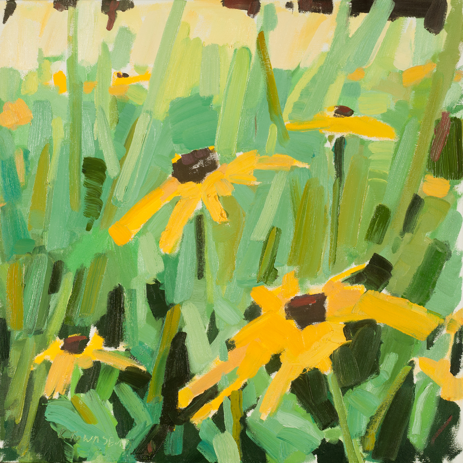 Yellow Echinacea Meadow by Krista Townsend