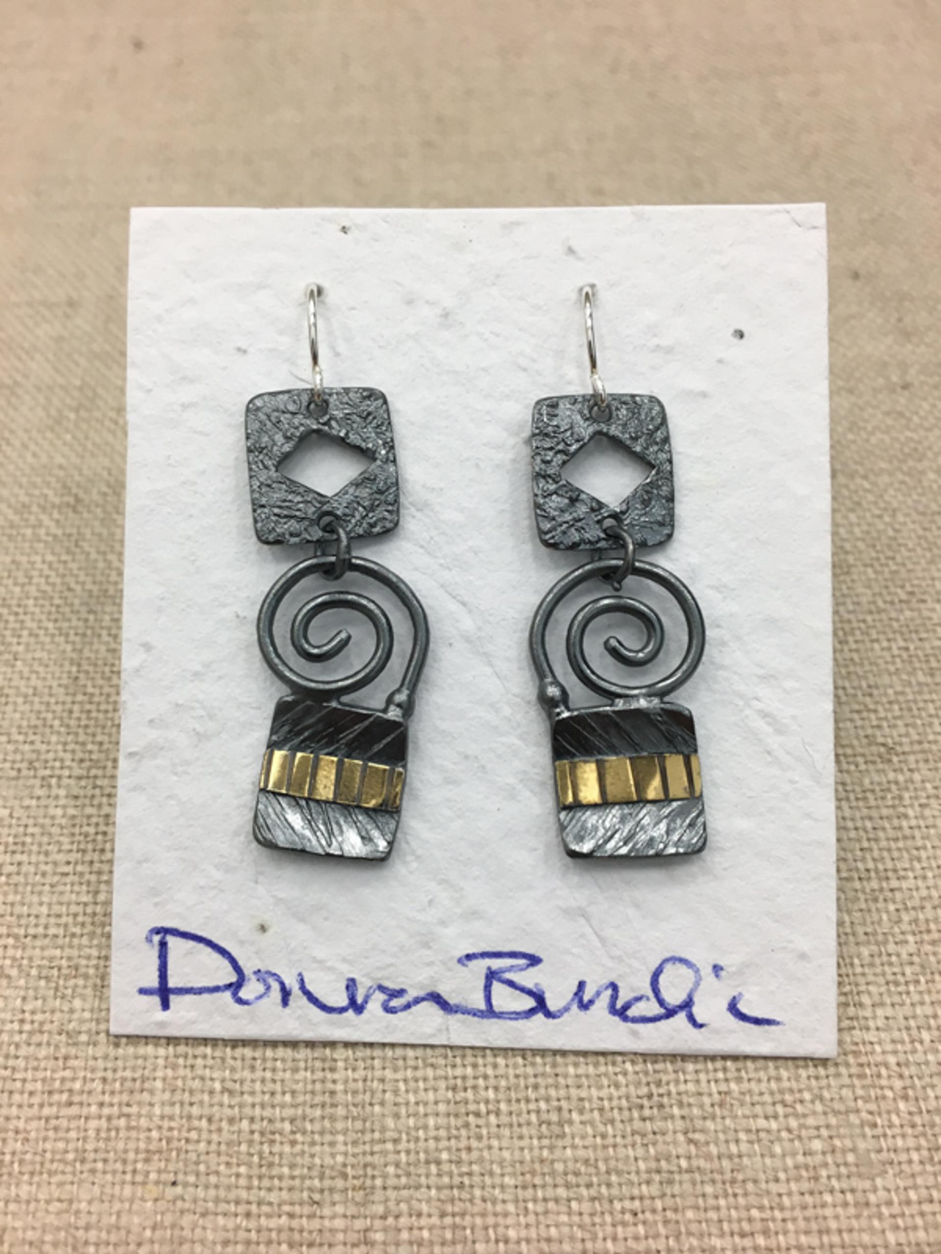 1456-3 Earrings  by Donna Burdic