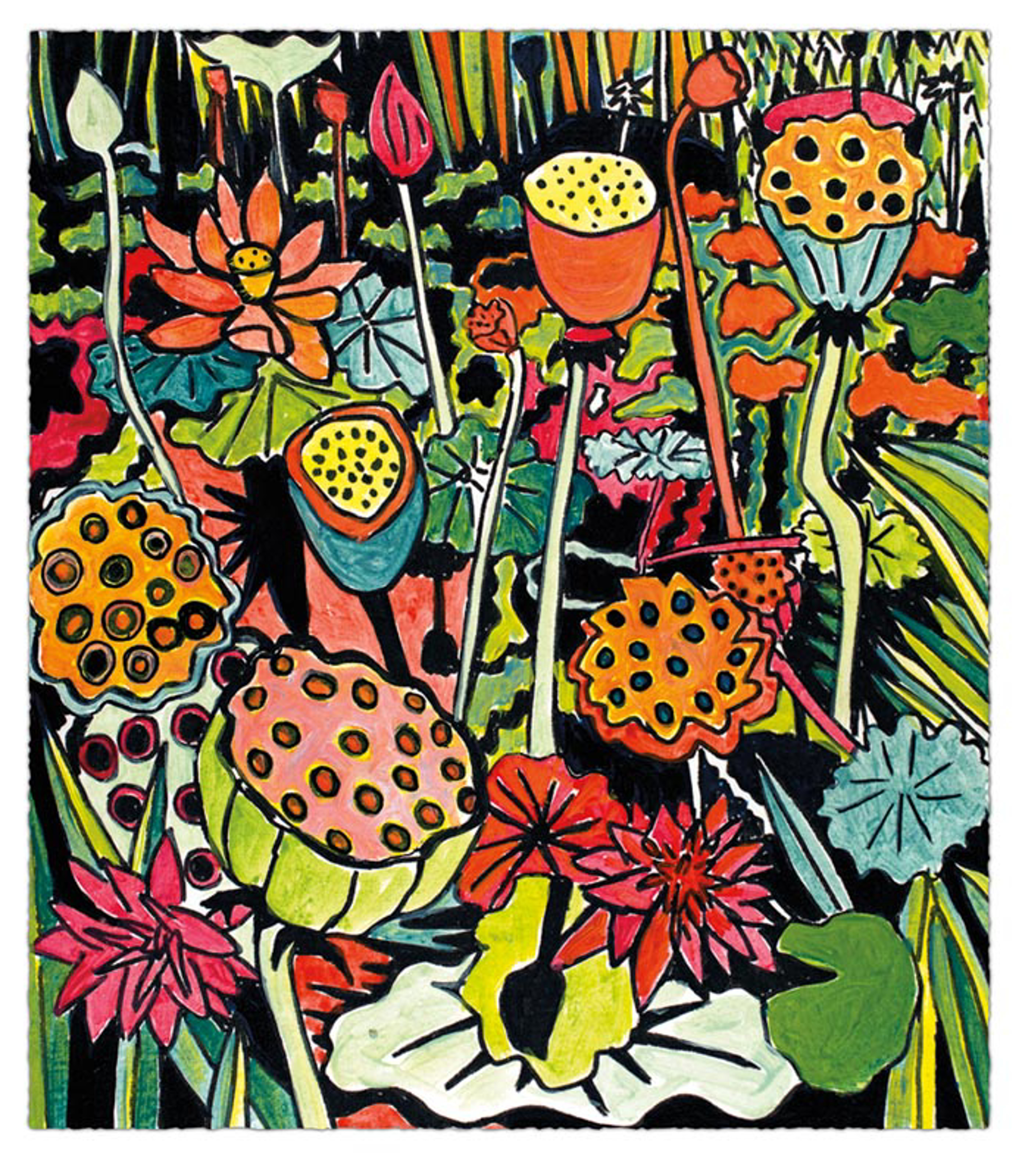 Lotusland 1 by Rebecca Hermann