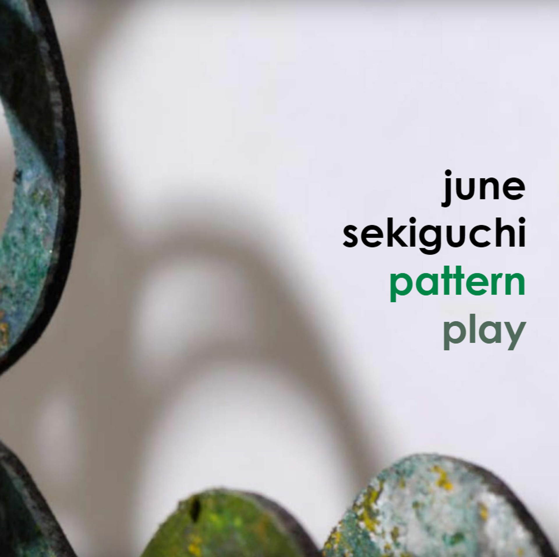 Pattern Play | exhibition catalog by June Sekiguchi