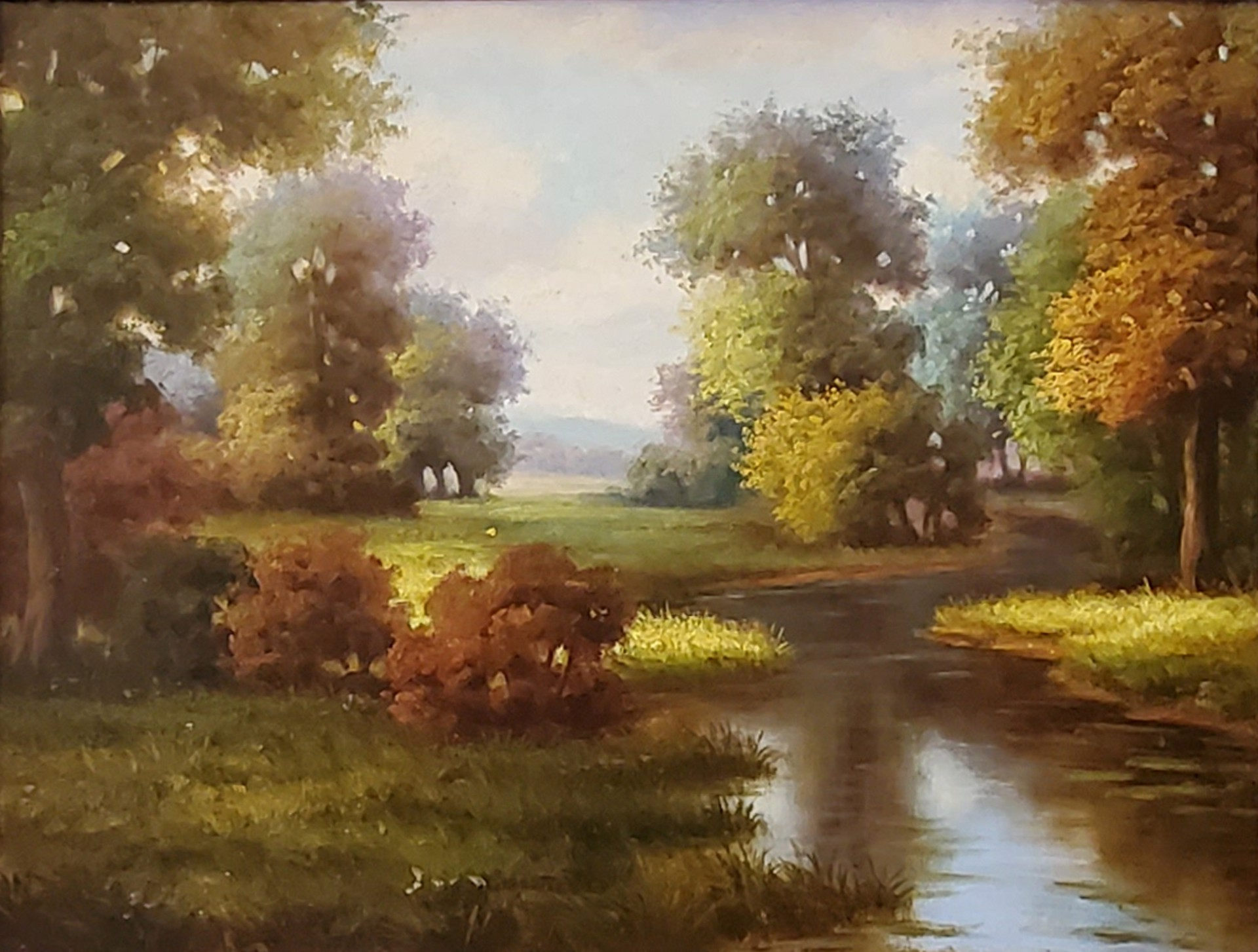 Landscape with a Creek by Unknown