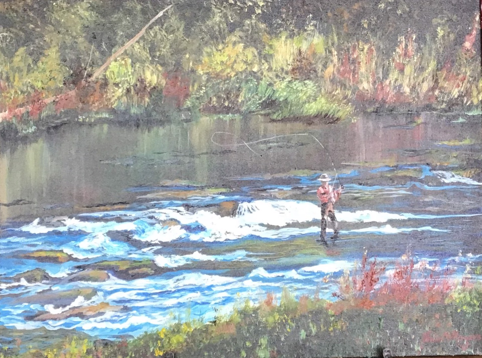 On the Fly - Toccoa River by Julie Rogers