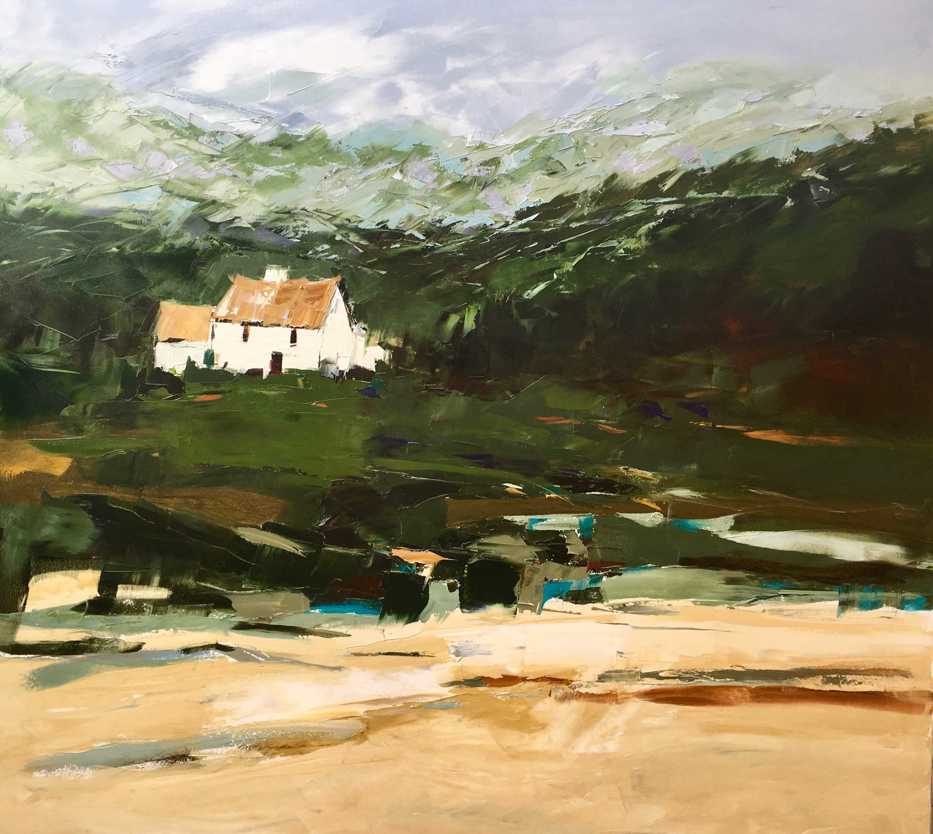 Irish Cottage by Sandra Pratt