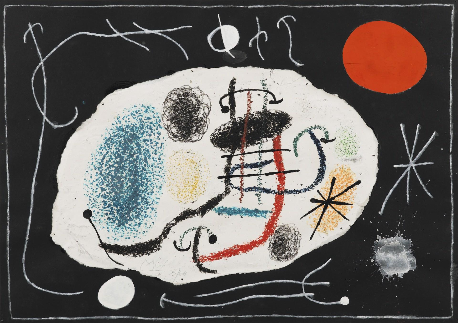 Le Lezard aux Plumes d'Or Plate VI by Joan Miro (1893 - 1983)