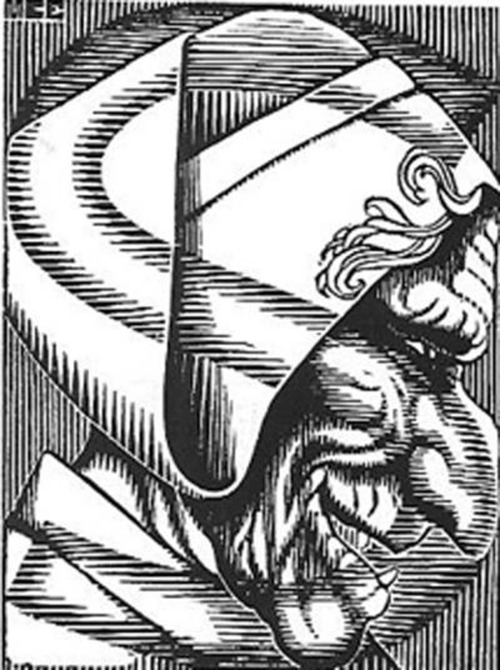 Scholastica - Initial S by M.C. Escher