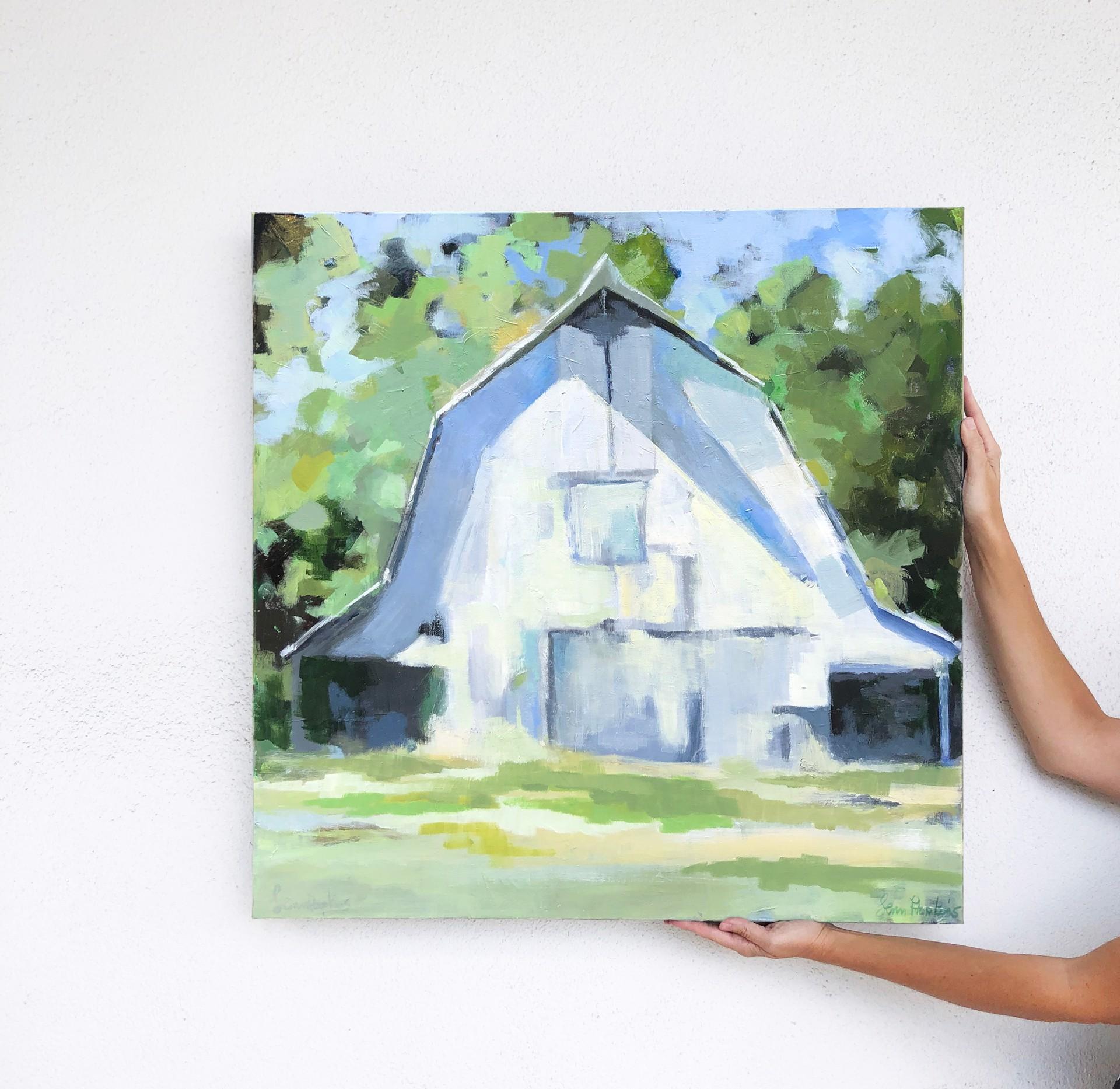 White Barn by Lenn Hopkins