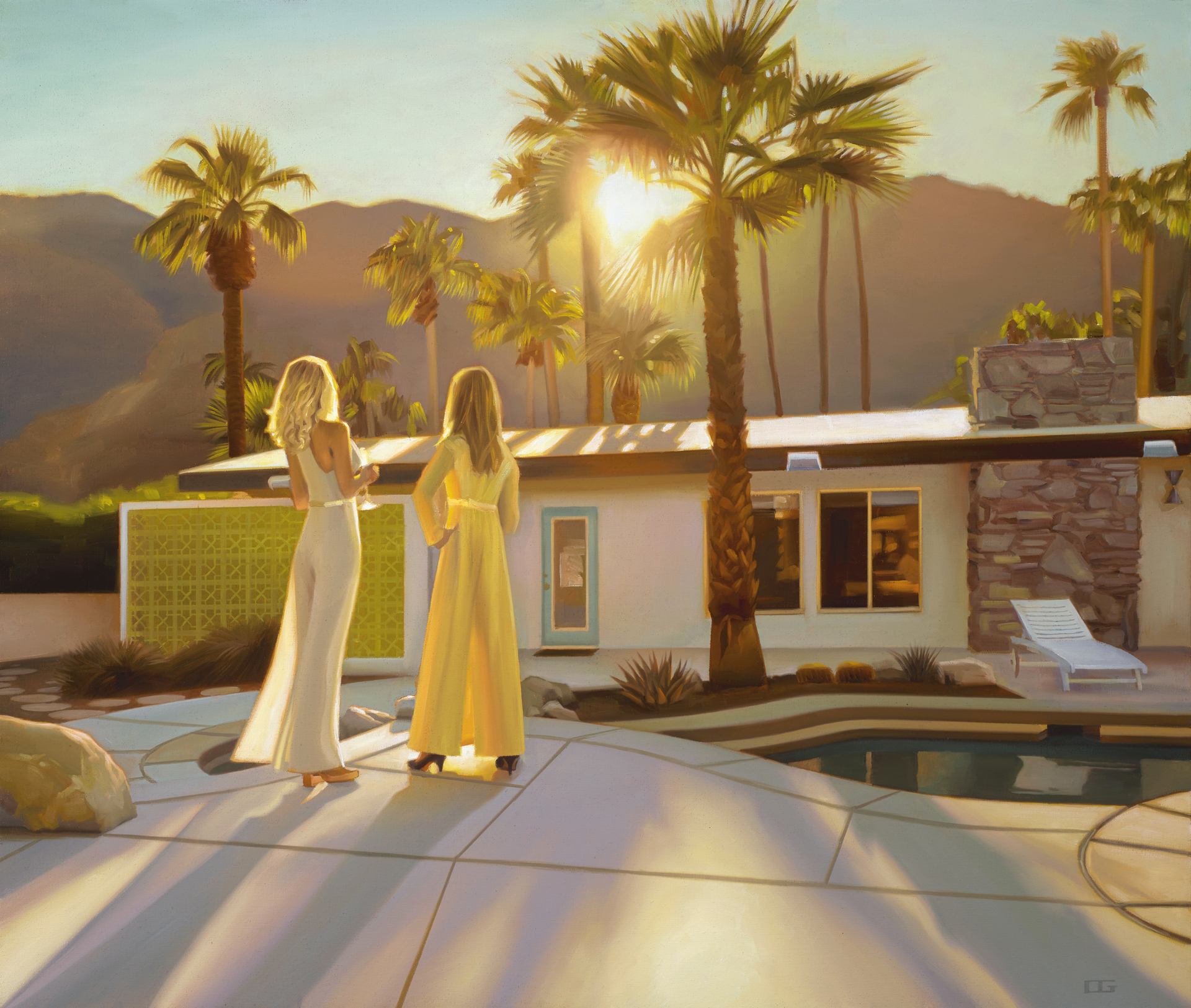 When The Sun Dips (Behind The Mountains) (S/N) by Carrie Graber