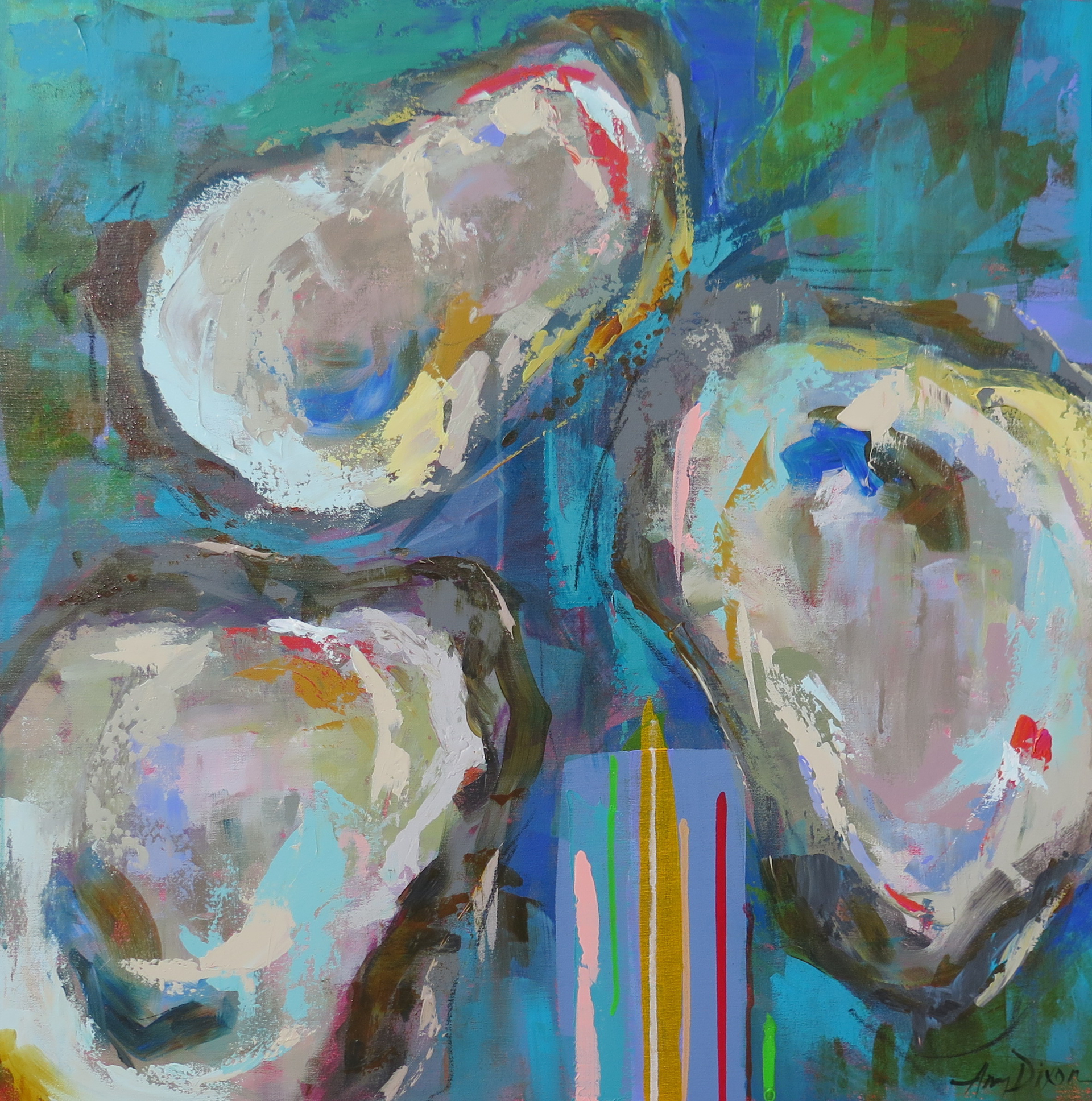 Oyster Stripes by Amy Dixon