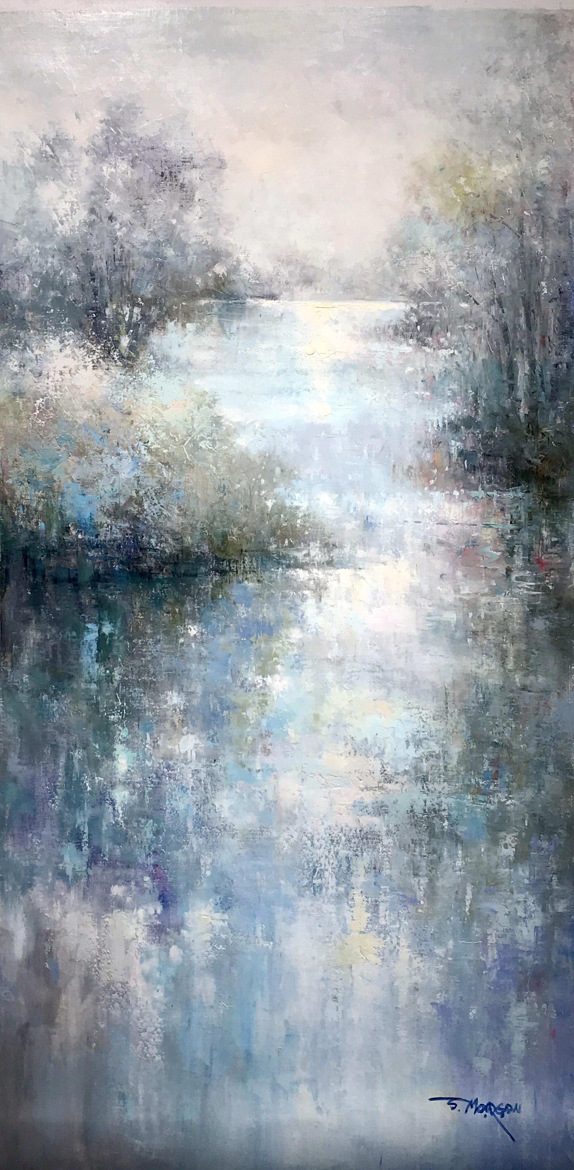 VERTICAL WATER SCENE by J MORGAN