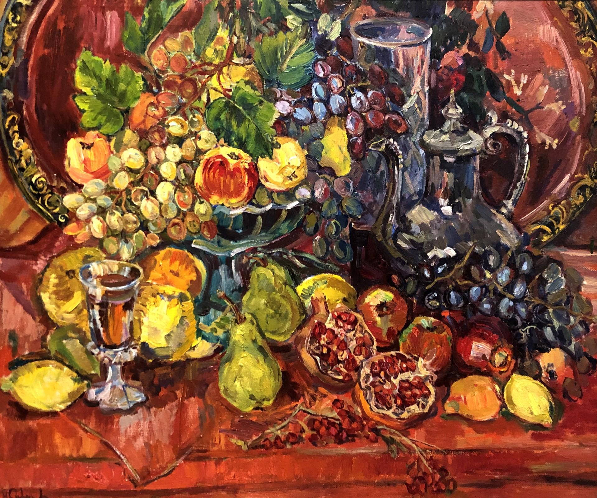 Natalia Vasilievna Suvorova - Still Life With Green Pears by Russian Artists