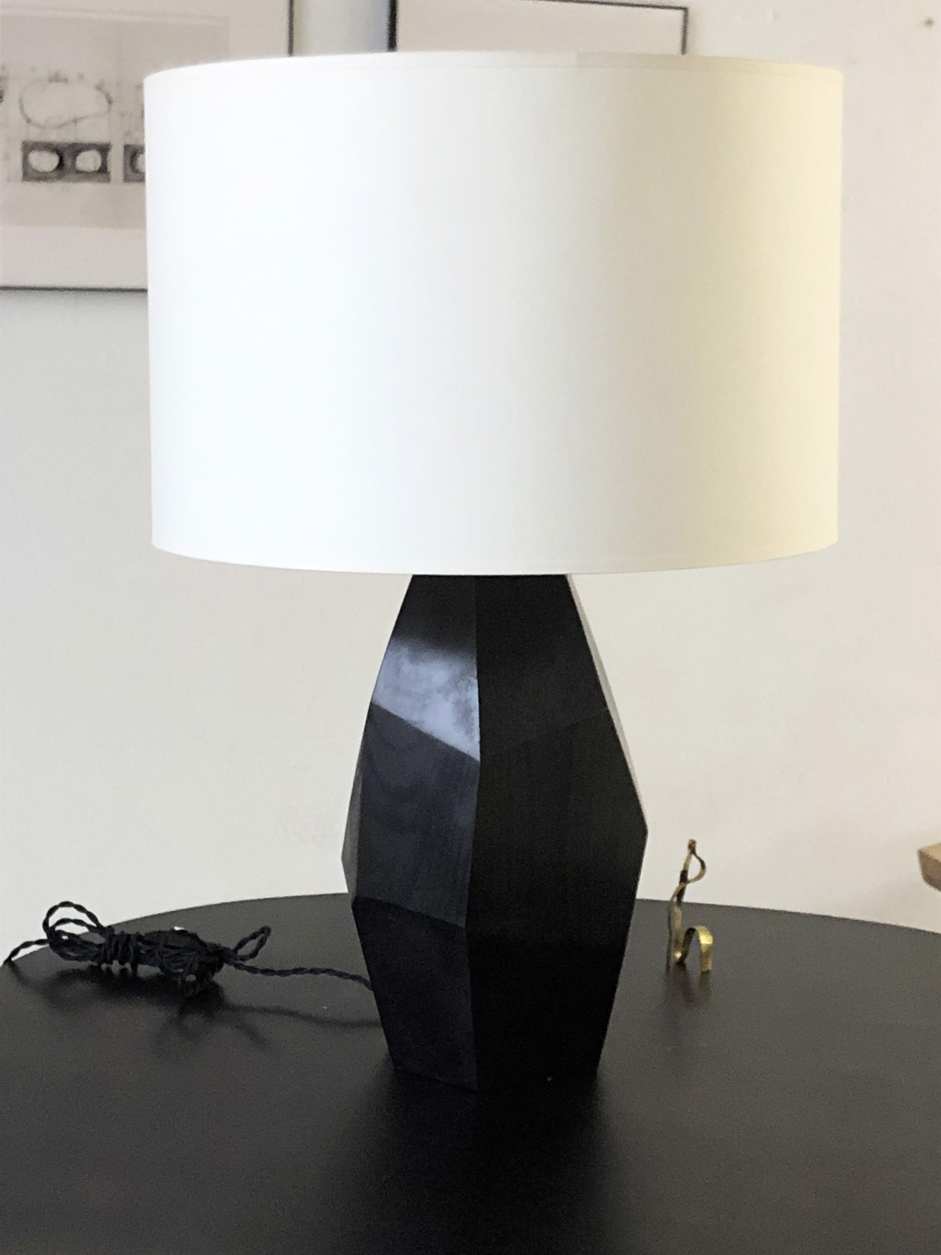 """""""Nazca"""" Large table lamp in Bronze by Jacques Jarrige"""
