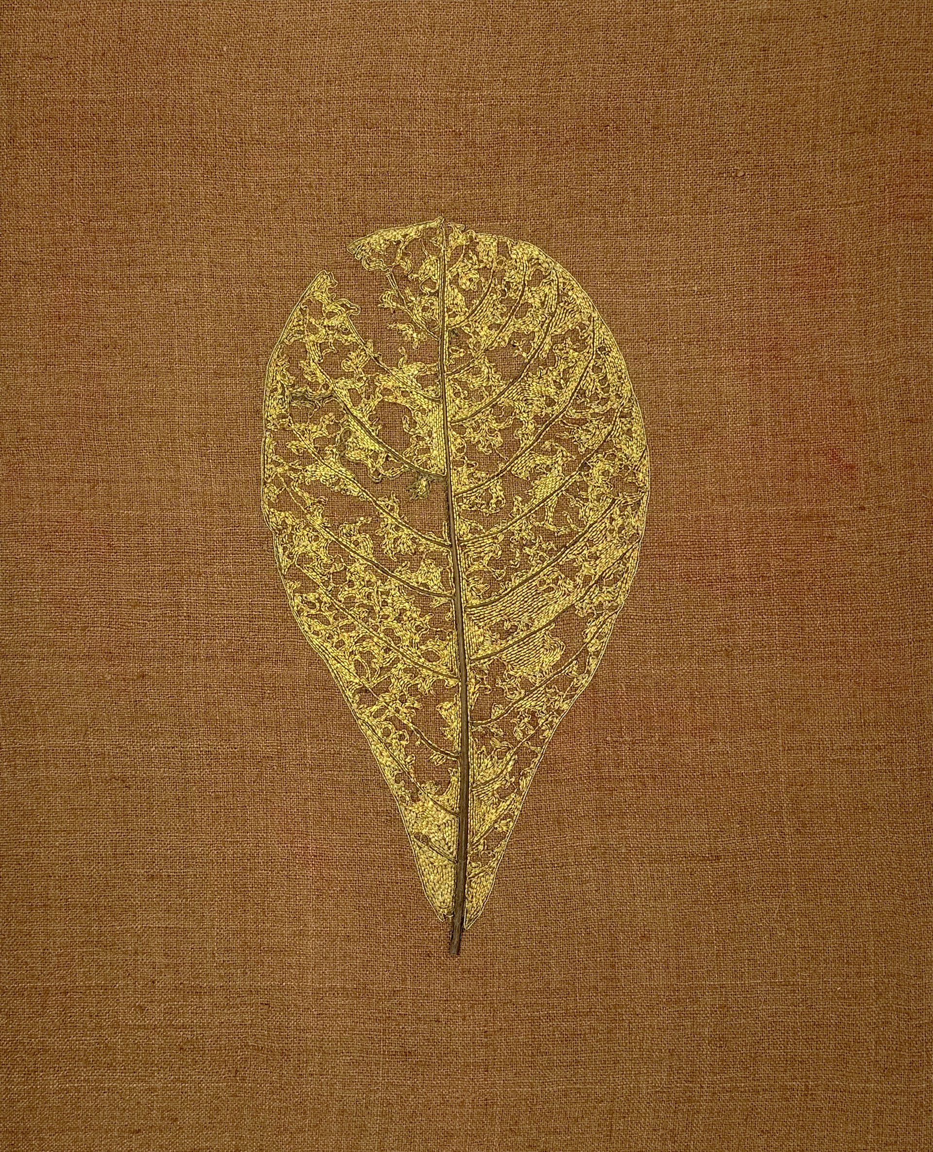 The Impermanence of Life: Feuille de Badamier II by Tiao Nithakhong Somsanith