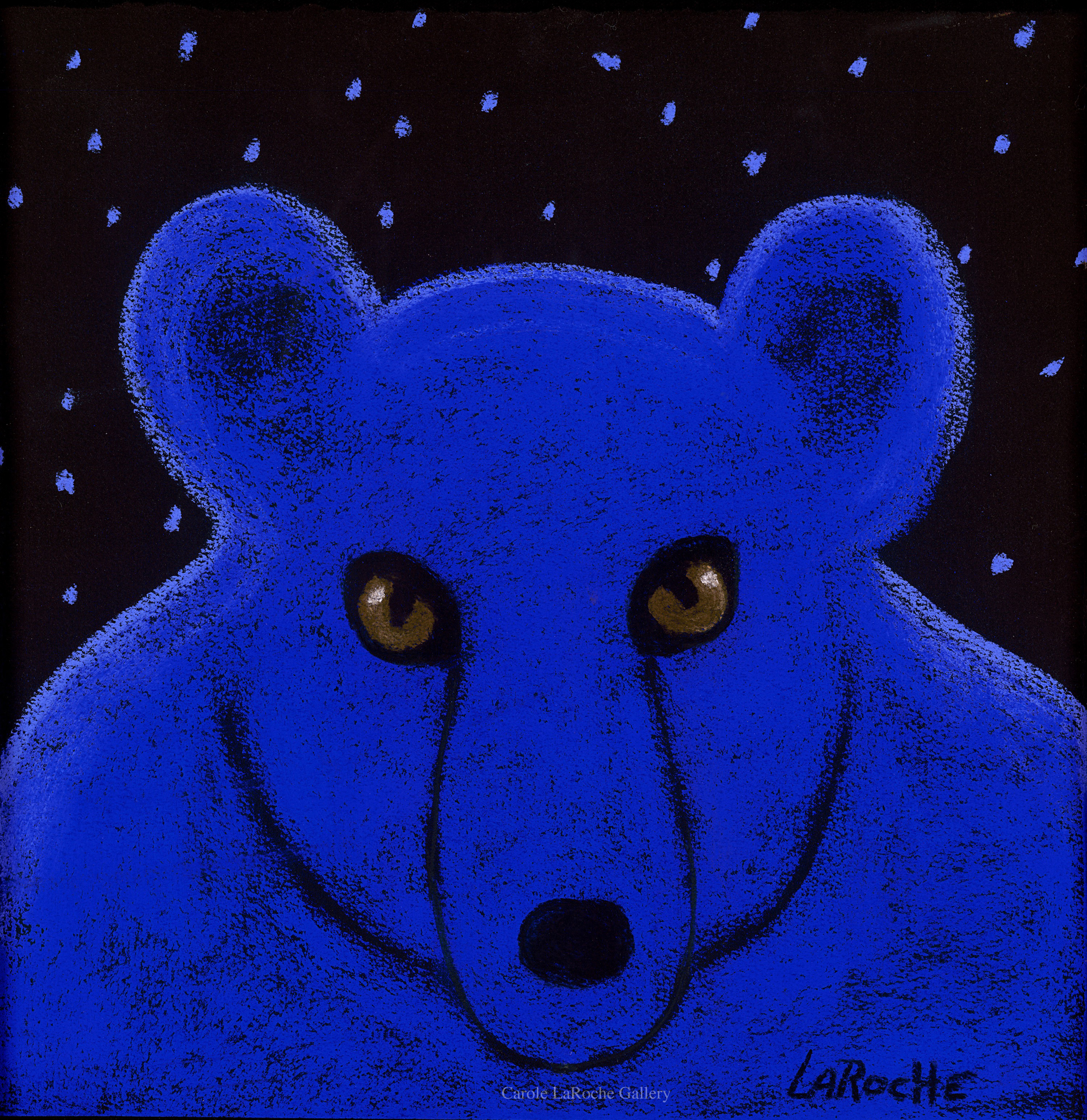 "BABY BLUE - limited edition giclee on canvas 20""x20"" or on paper w/frame size of 25""x25"" by Carole LaRoche"