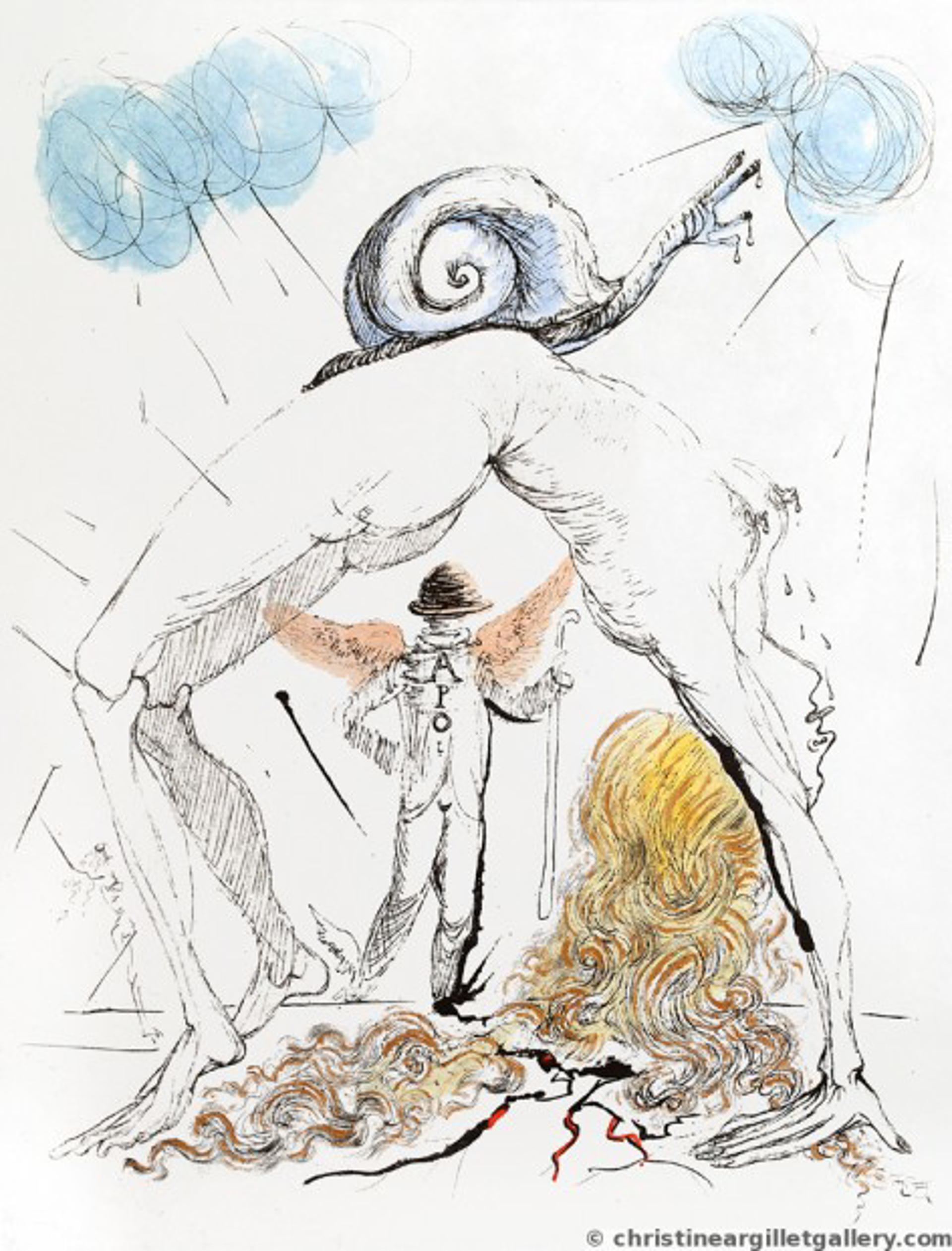 """Apollinaire """"Woman with Snail"""" by Salvador Dali"""