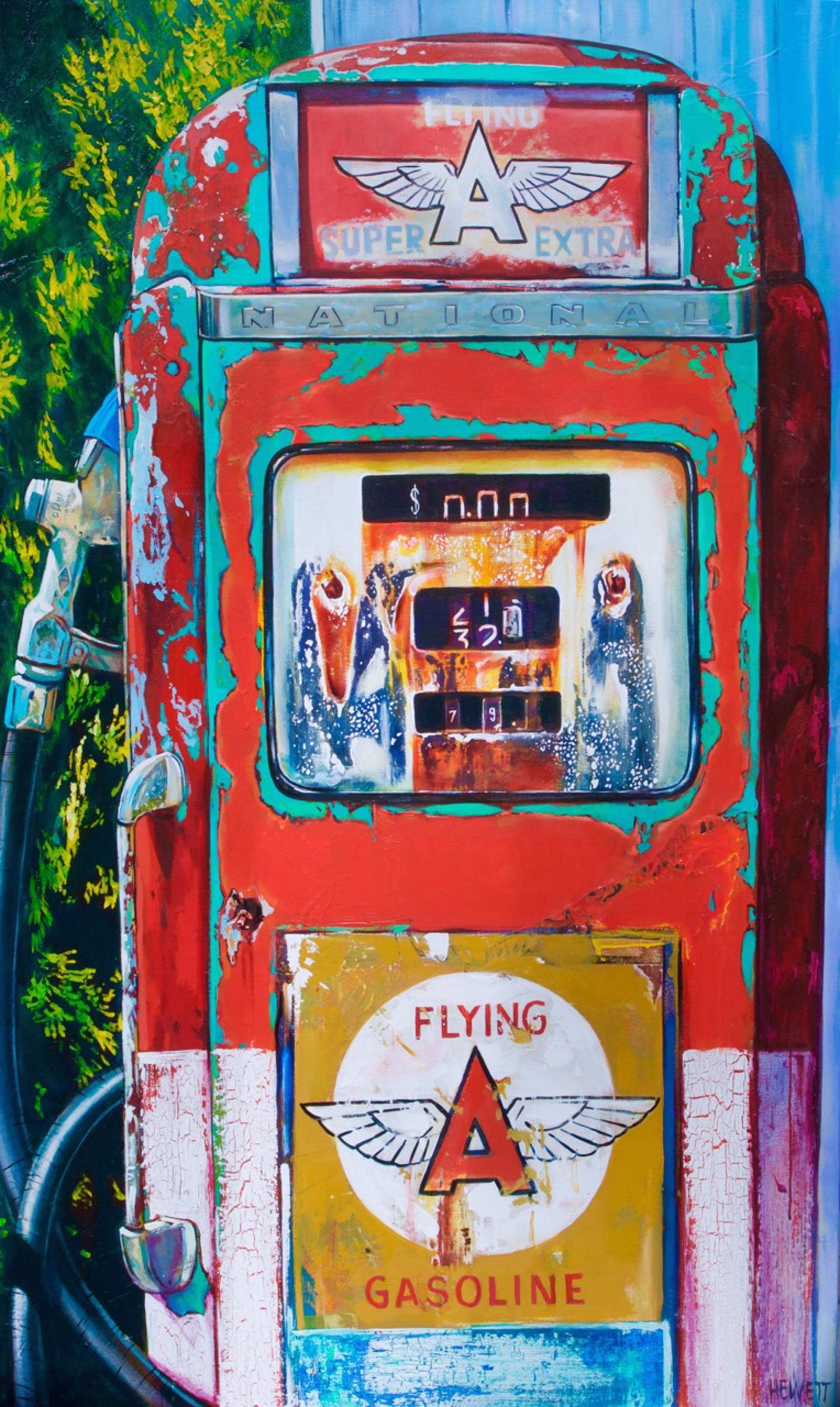 Gas Pump-  SOLD by Scott Hewett
